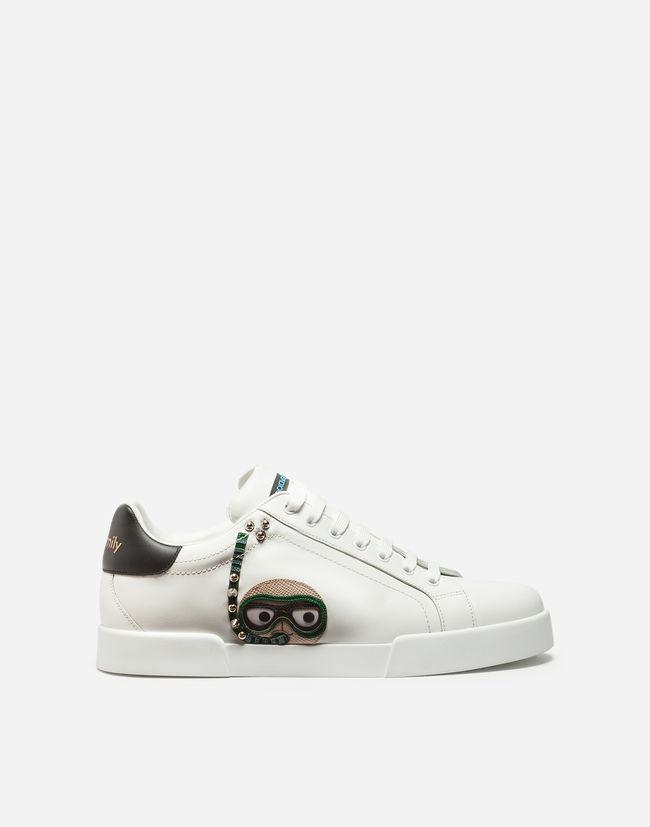 Gabbana Sneakers Patch Portofino Dolceamp; Aus Mit Designer Kalbsleder j54ALR