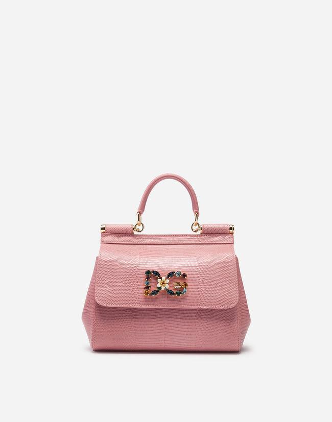 66ed52282790 Dolce   Gabbana Small Sicily Handbag In Iguana Print Calfskin With ...