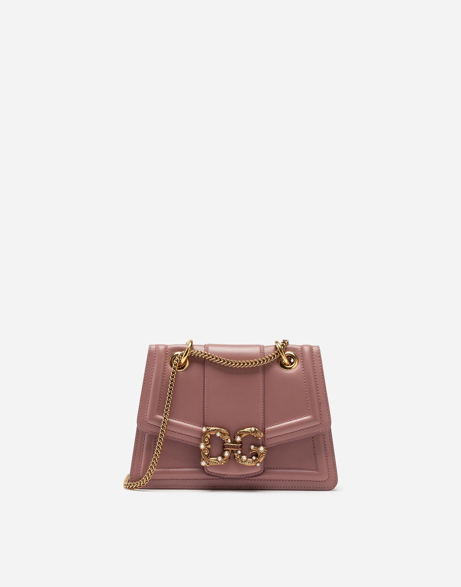Lyst - Dolce   Gabbana Dg Amore Bag In Calfskin in Pink 495a5e8e37f77