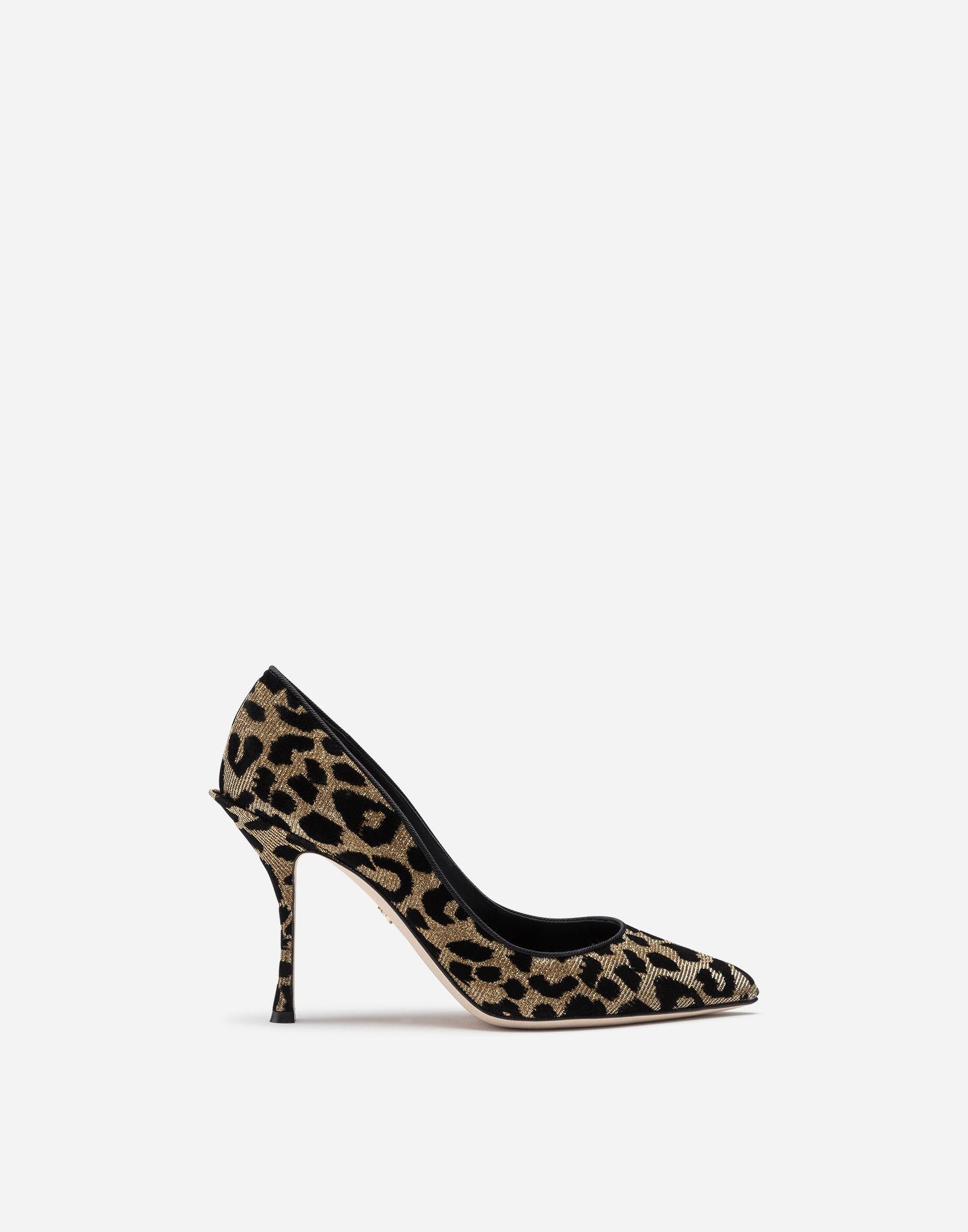 13f6886c255 Dolce   Gabbana. Women s Metallic Pumps In Color-changing Leopard Fabric