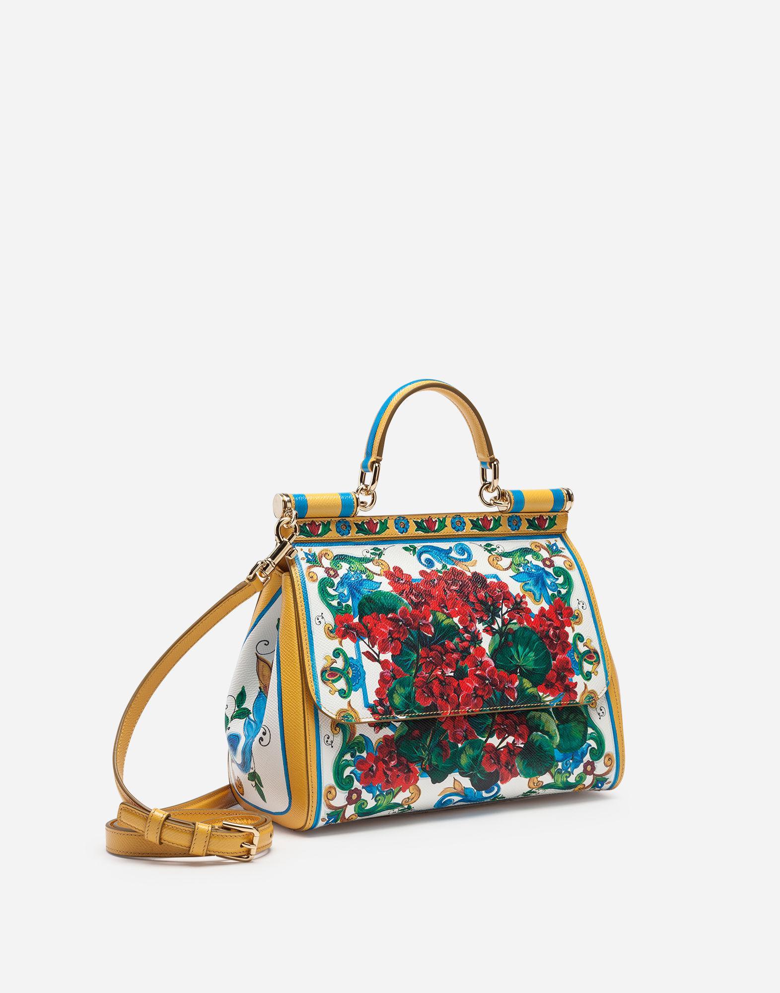 10f1b15e29cf Lyst - Dolce   Gabbana Medium Sicily Bag In Printed Dauphine Calfskin