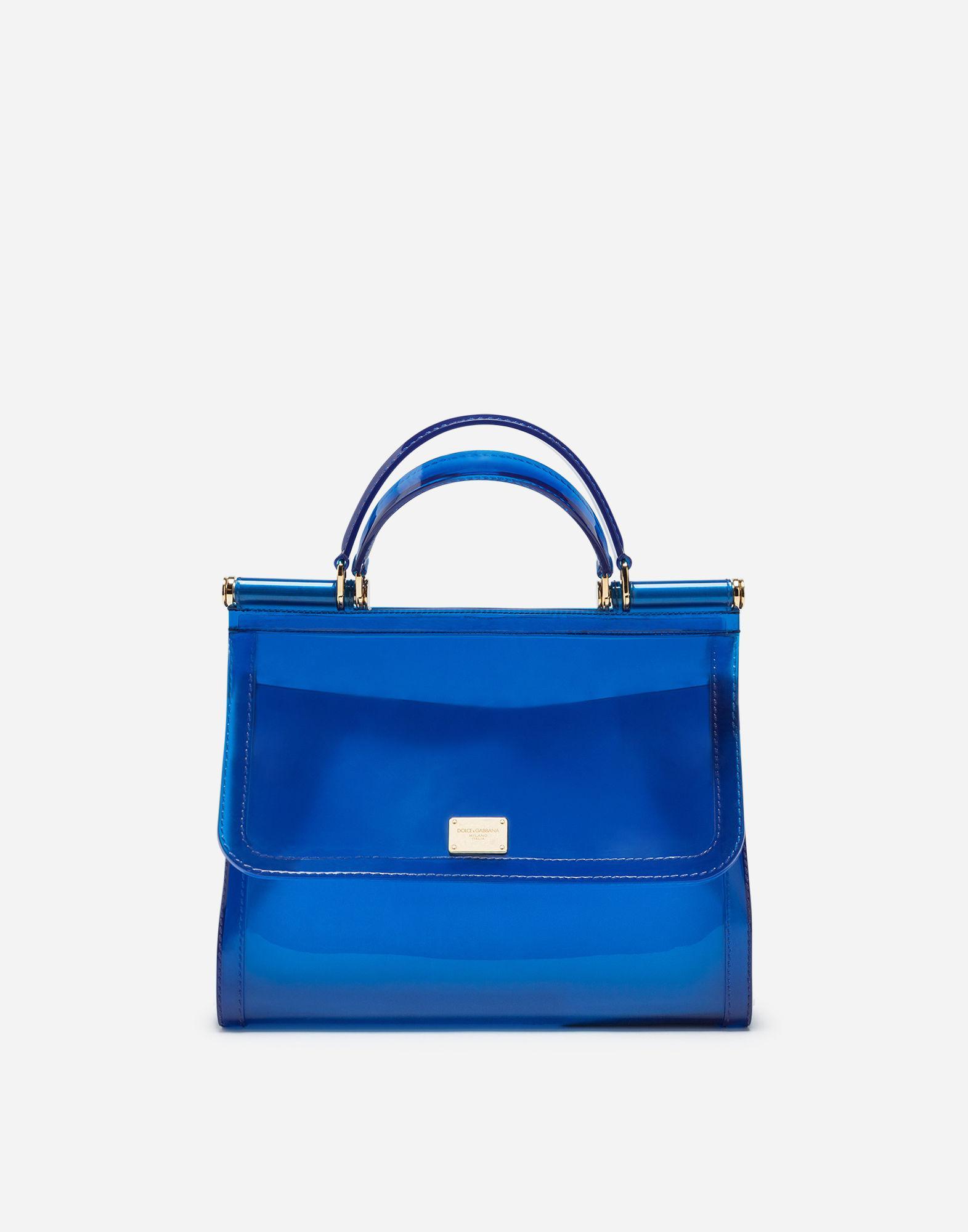 a450f83858 Lyst - Dolce   Gabbana Semi-transparent Rubber Sicily Handbag in Blue