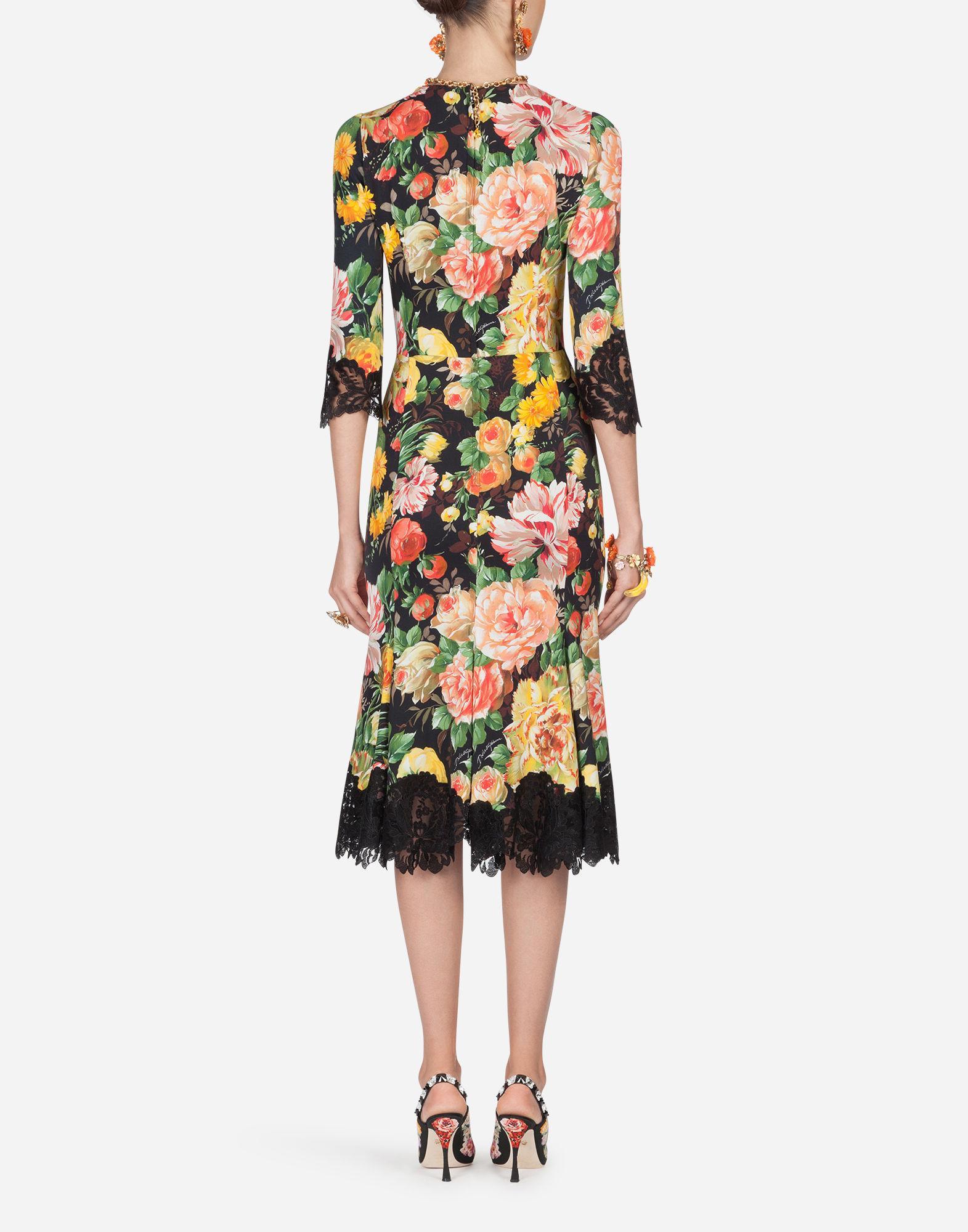 ea98edf9 Lyst - Dolce & Gabbana Dress In Printed Viscose