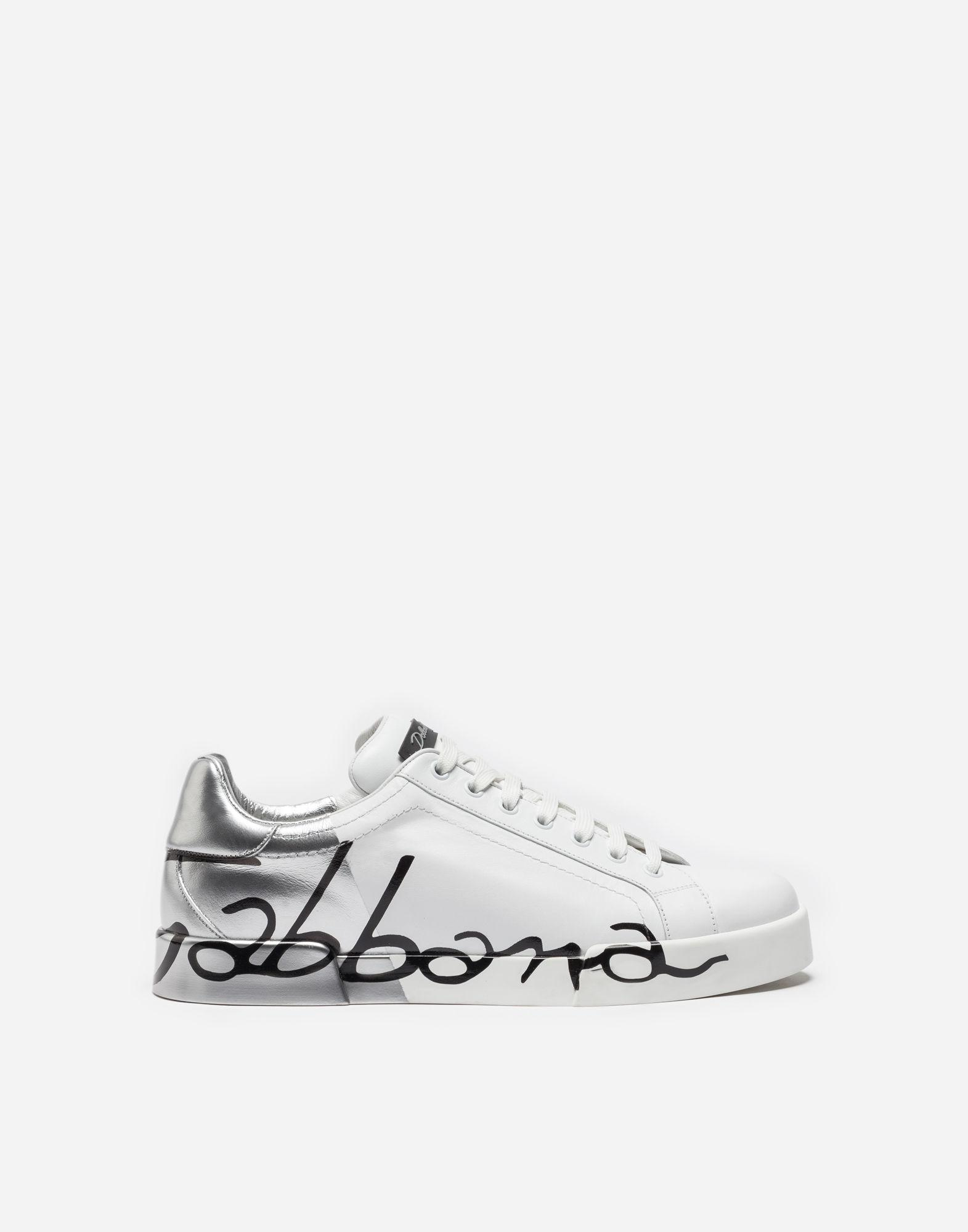 9b2ae543aa6c Lyst - Dolce   Gabbana Portofino Sneakers In Leather And Patent in ...