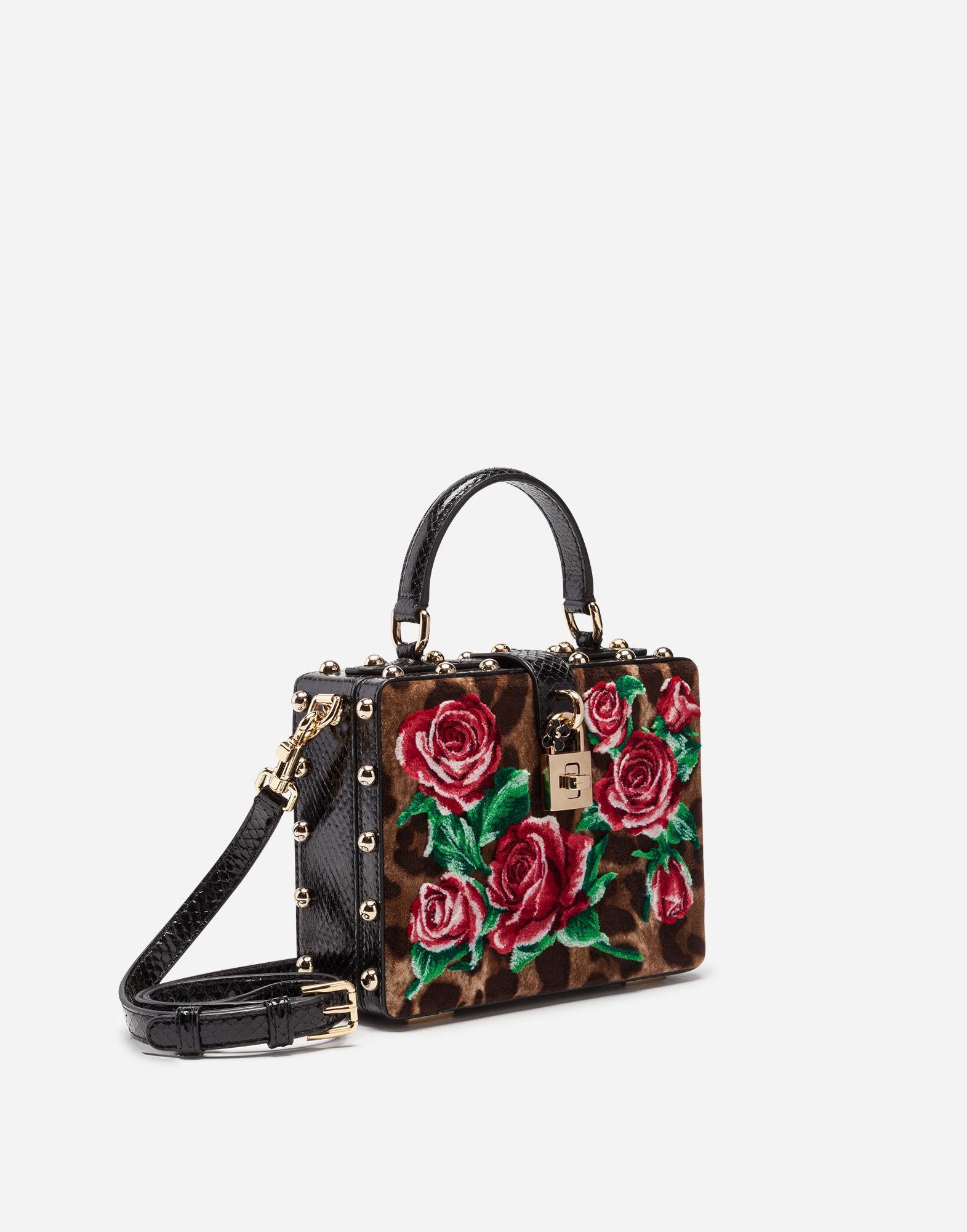 3927ba989cbe Lyst - Dolce   Gabbana Velvet Stitch Dolce Box Bag