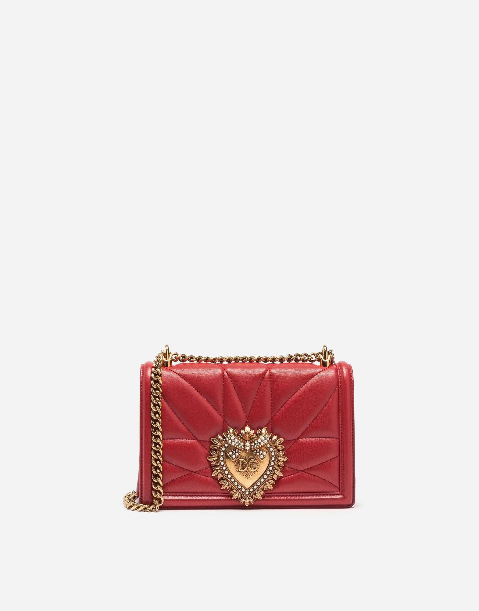 a72b6f8c04 Dolce   Gabbana. Women s Red Medium Devotion Bag In Quilted Nappa Leather