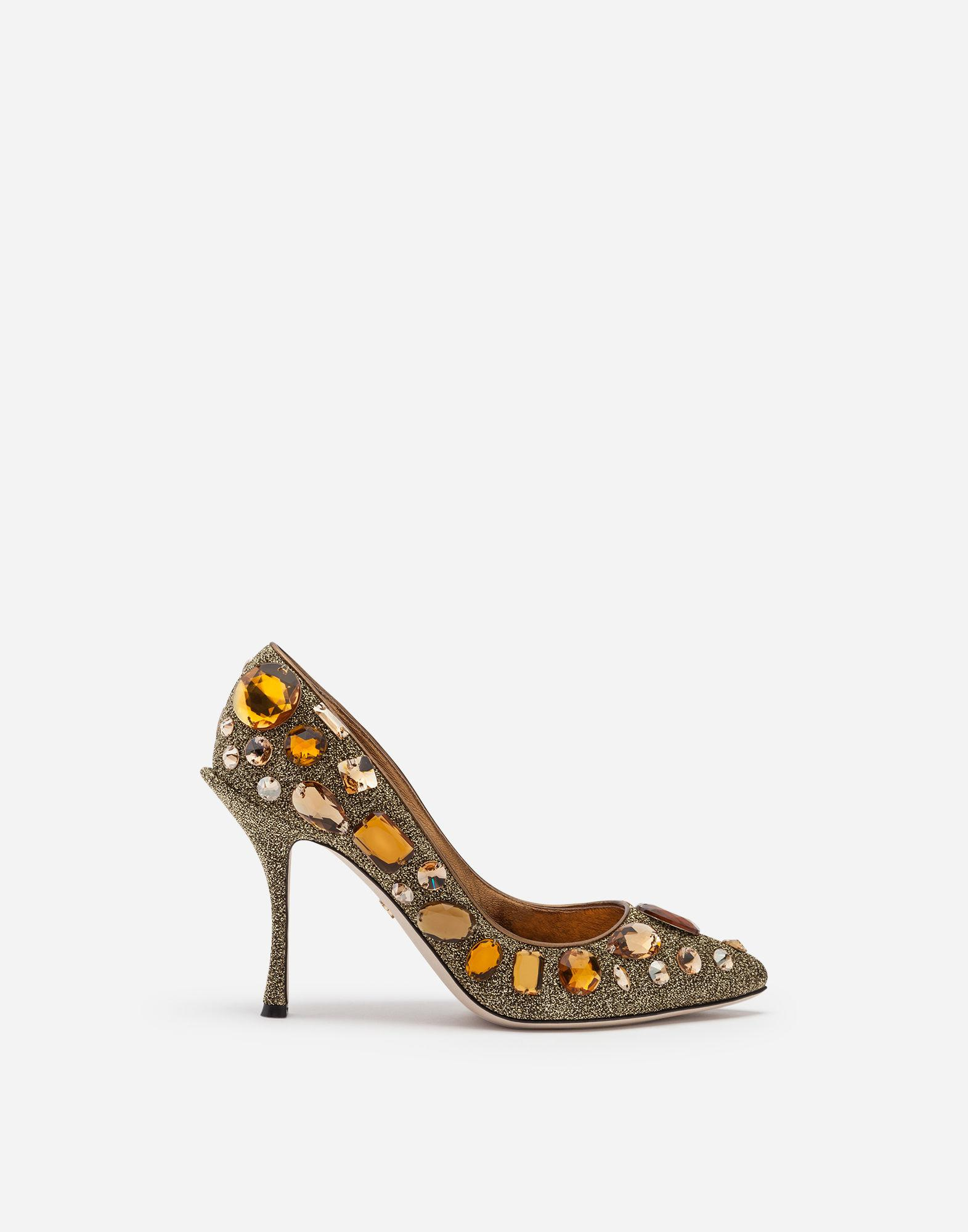 68bcb6ce960d Lyst - Dolce   Gabbana Pumps In Soft Lurex With Embroidery in Metallic