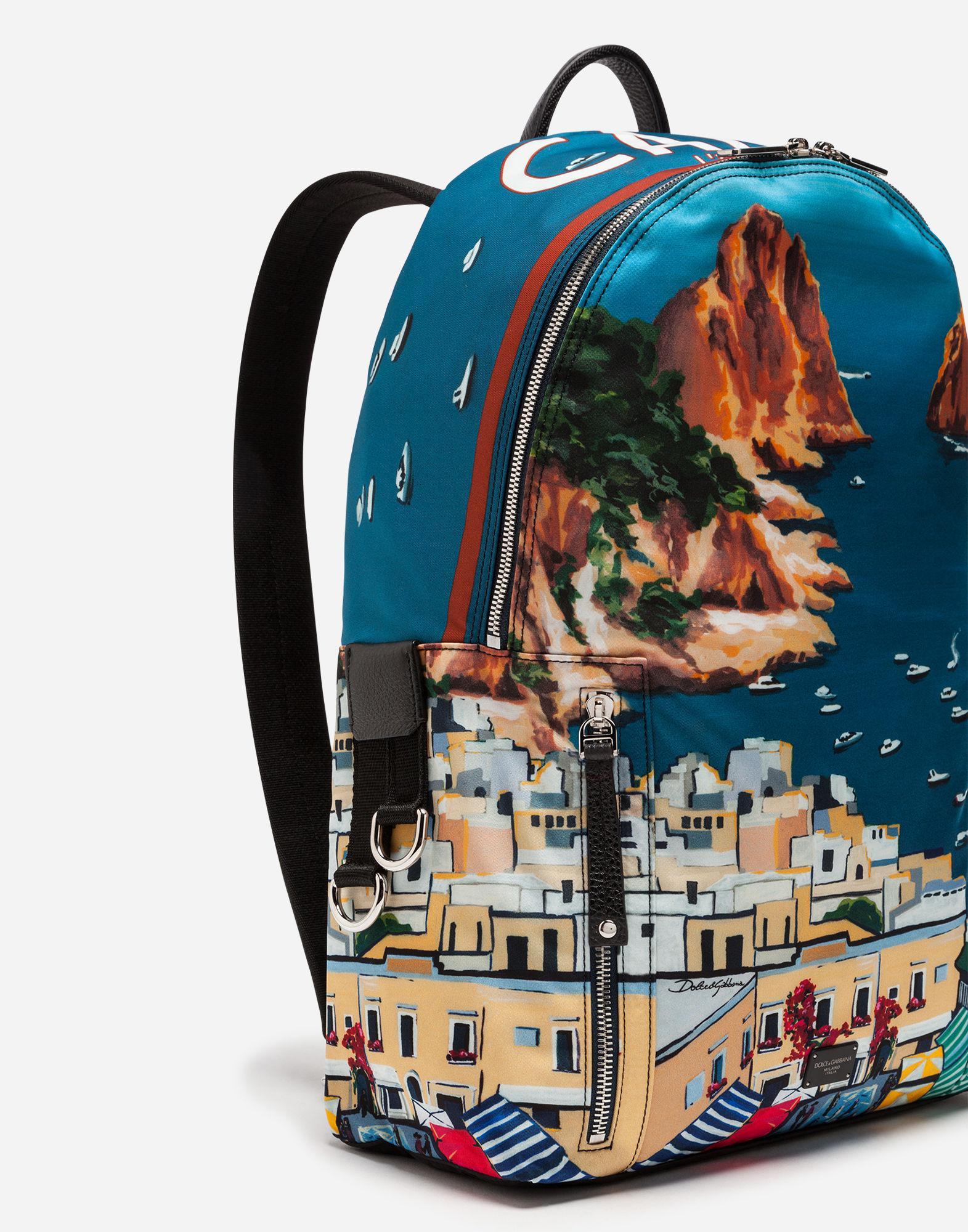 ... best website fe082 746fb Lyst - Dolce Gabbana Printed Nylon Vulcano  Backpack for Men ... 4179b5f80f