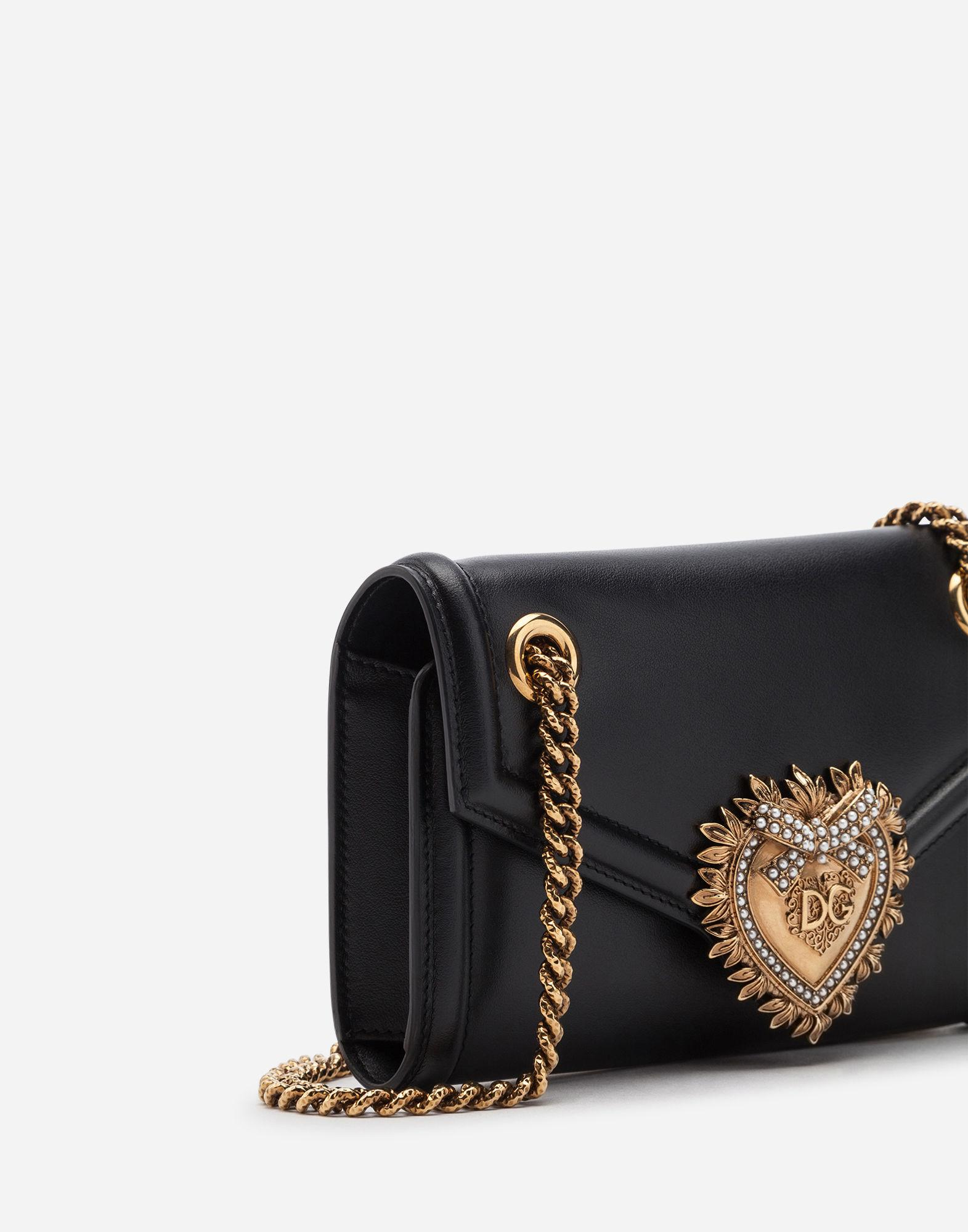 Lyst - Dolce   Gabbana Medium Devotion Bag In Smooth Calfskin Leather in  Black - Save 23% c5305fab1d1b1