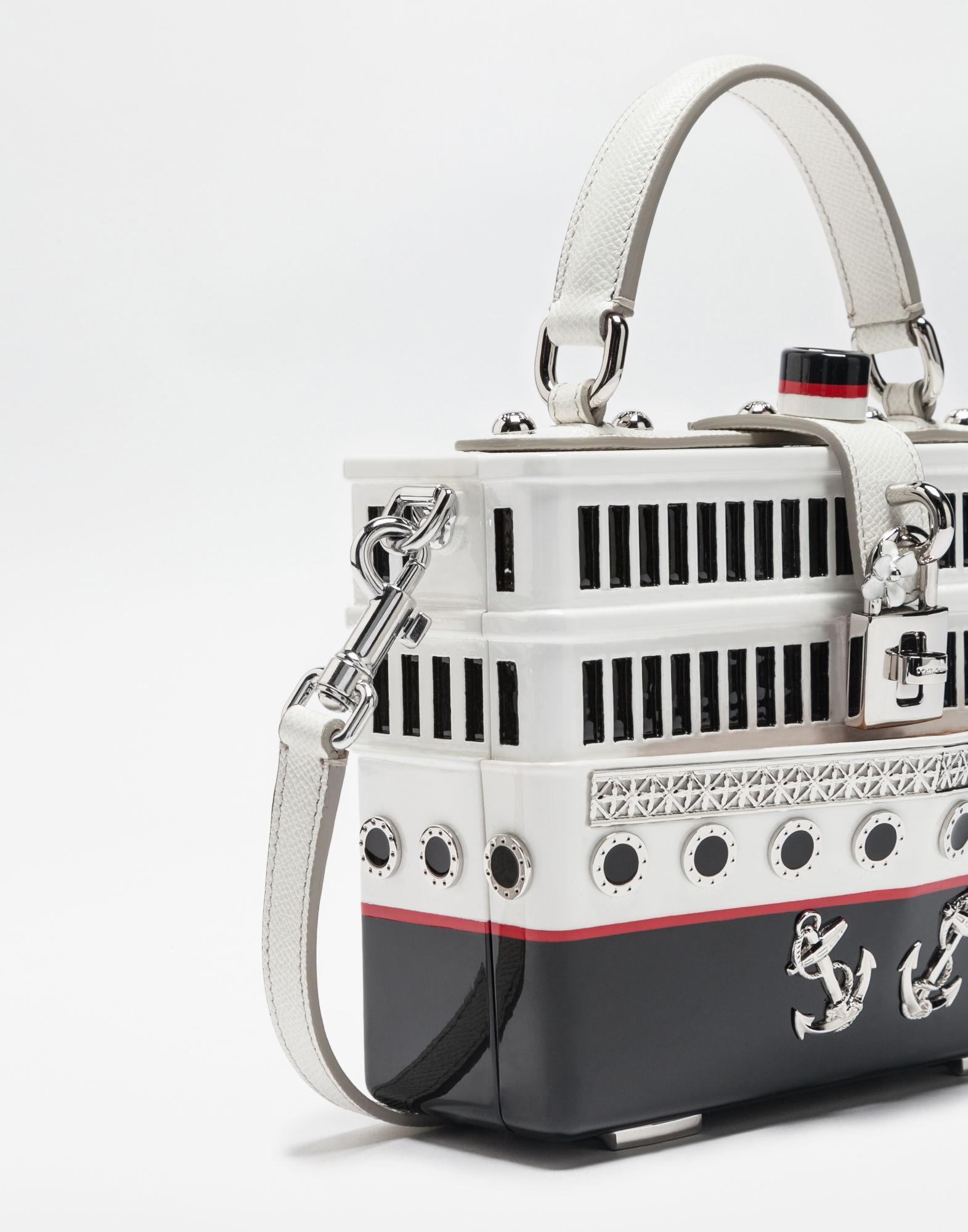 6327dad524e1 Lyst - Dolce   Gabbana Dolce Box Bag in White