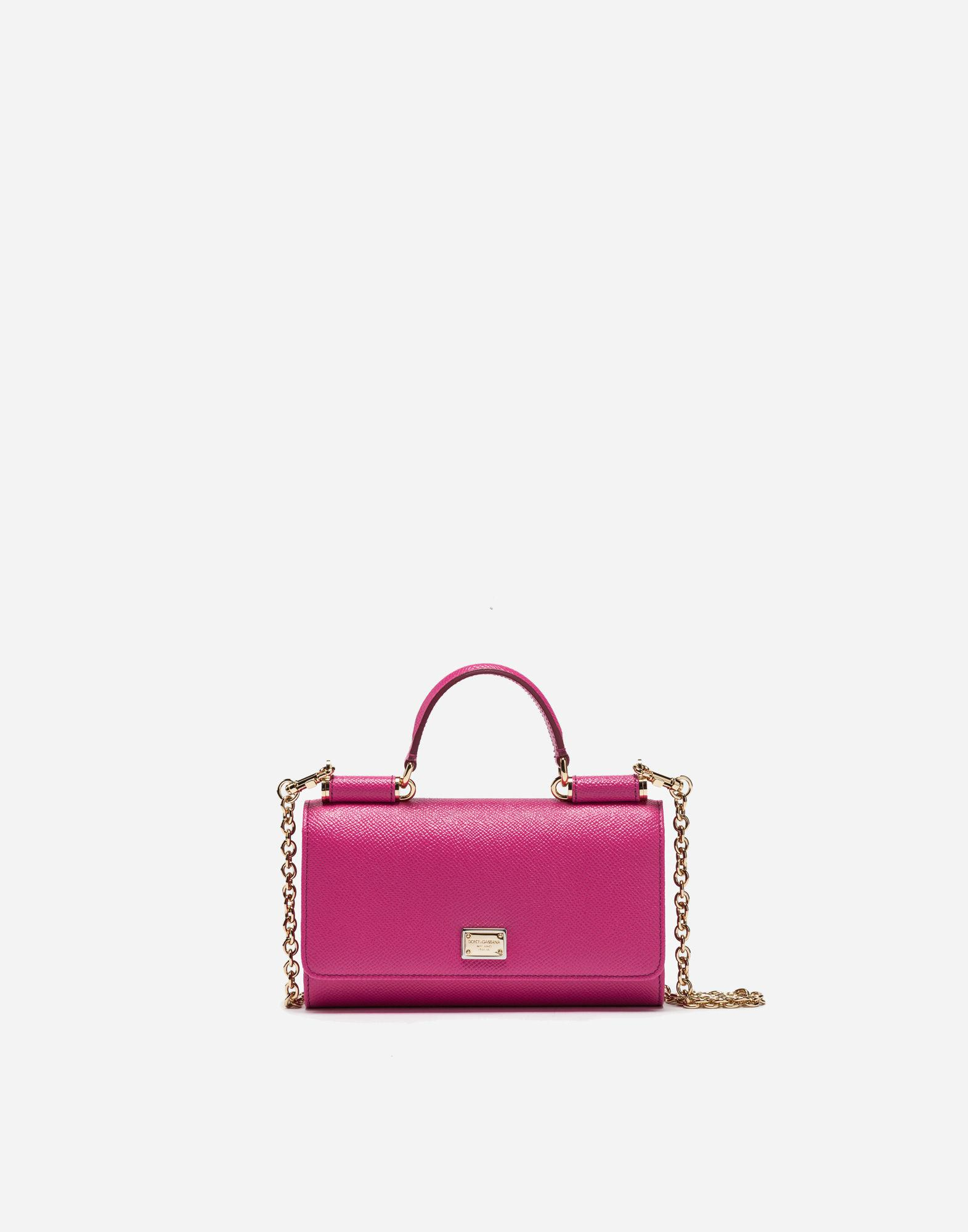 afb3aada4a Lyst - Dolce   Gabbana Min Von Bag In Dauphine Leather in Pink