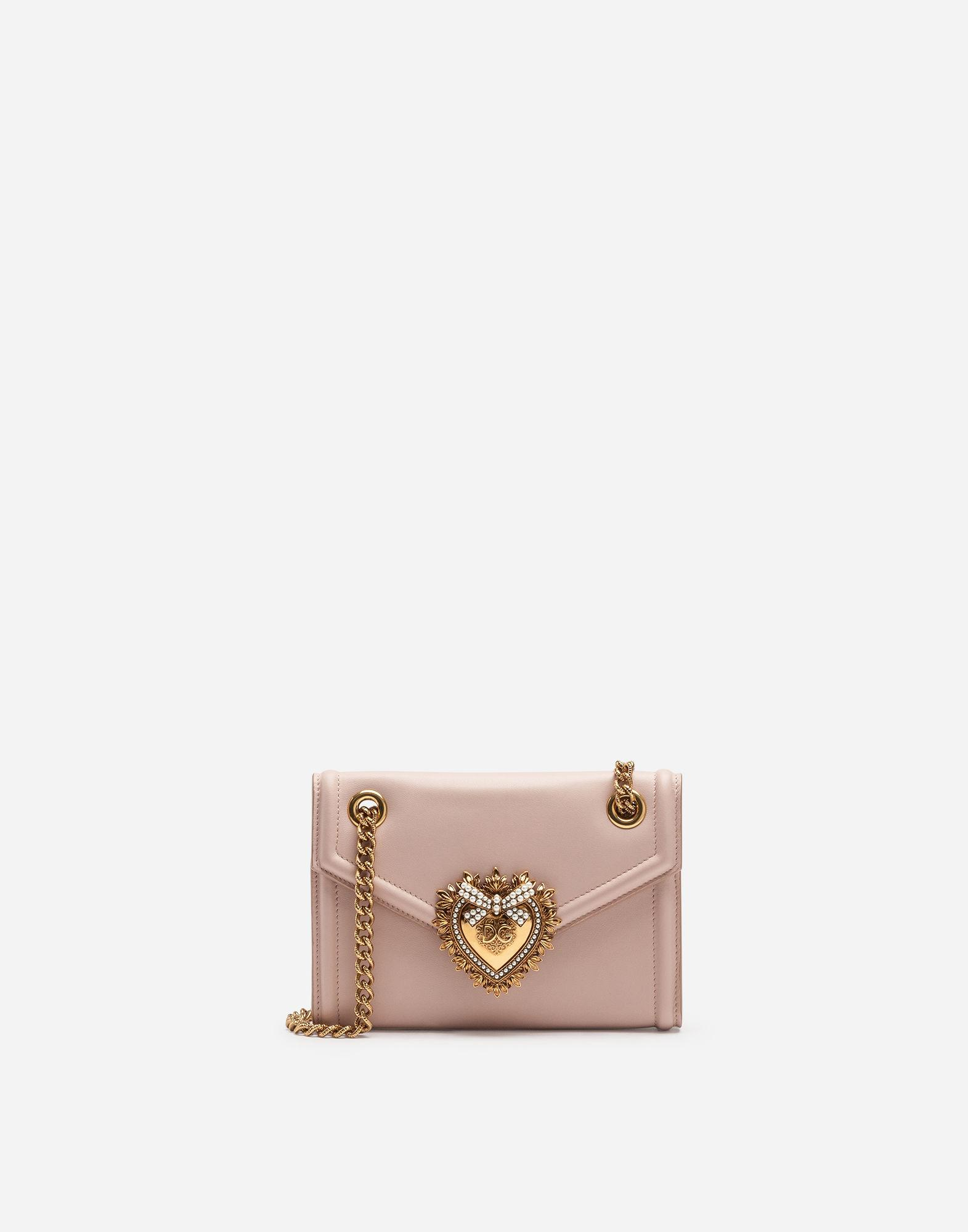 1cee1ee688d3 Lyst - Dolce   Gabbana Mini Devotion Bag In Smooth Calfskin in Pink