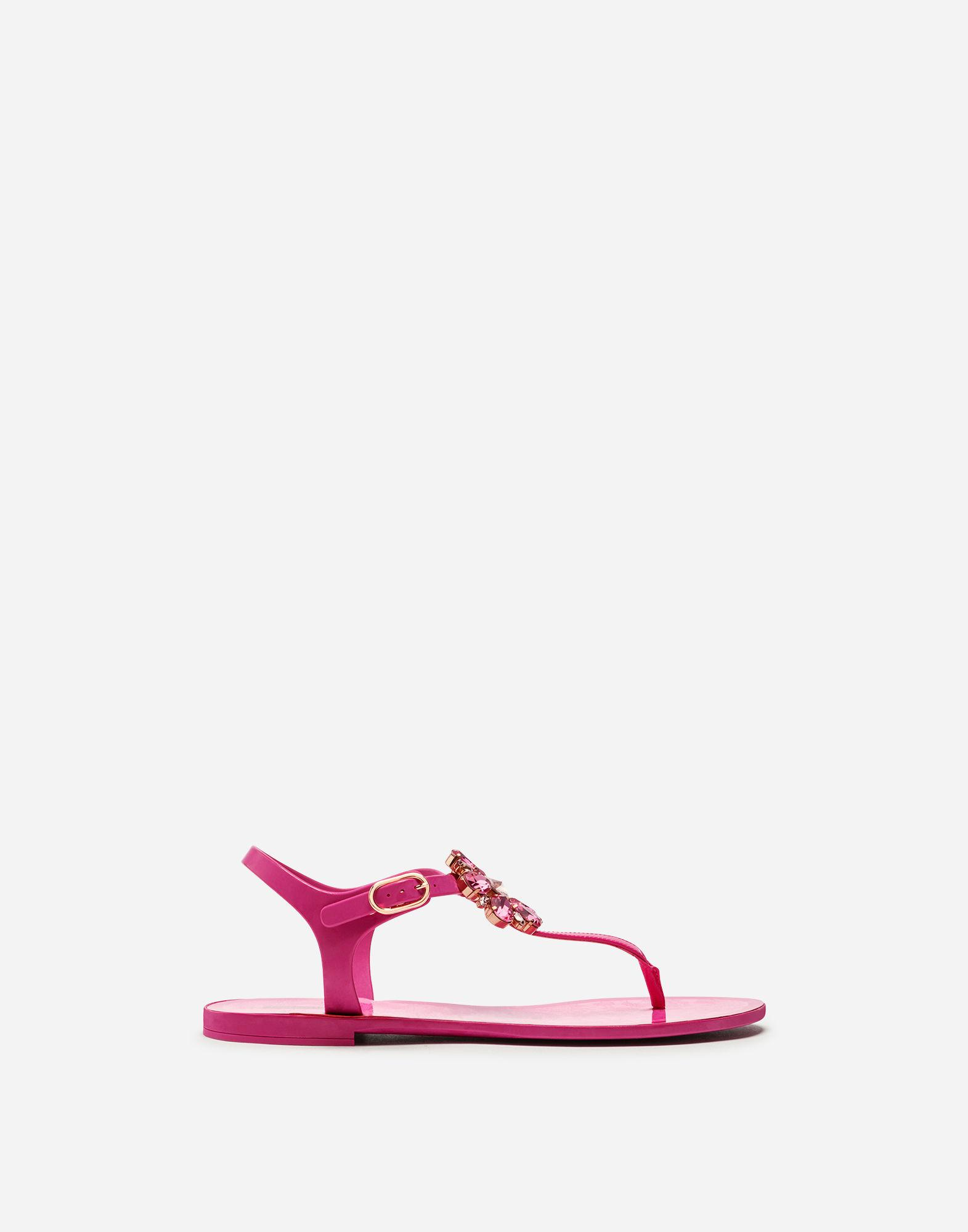 8ec3c06b4ef831 Lyst - Dolce   Gabbana Rubber Flip-flop Sandal And Patent With ...