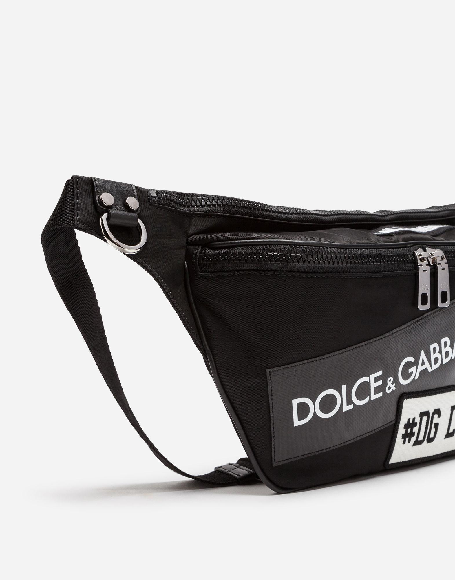 Lyst - Dolce   Gabbana Nylon Mediterraneo Fanny Pack With Label Patch in  Black for Men 514dc511bfebc