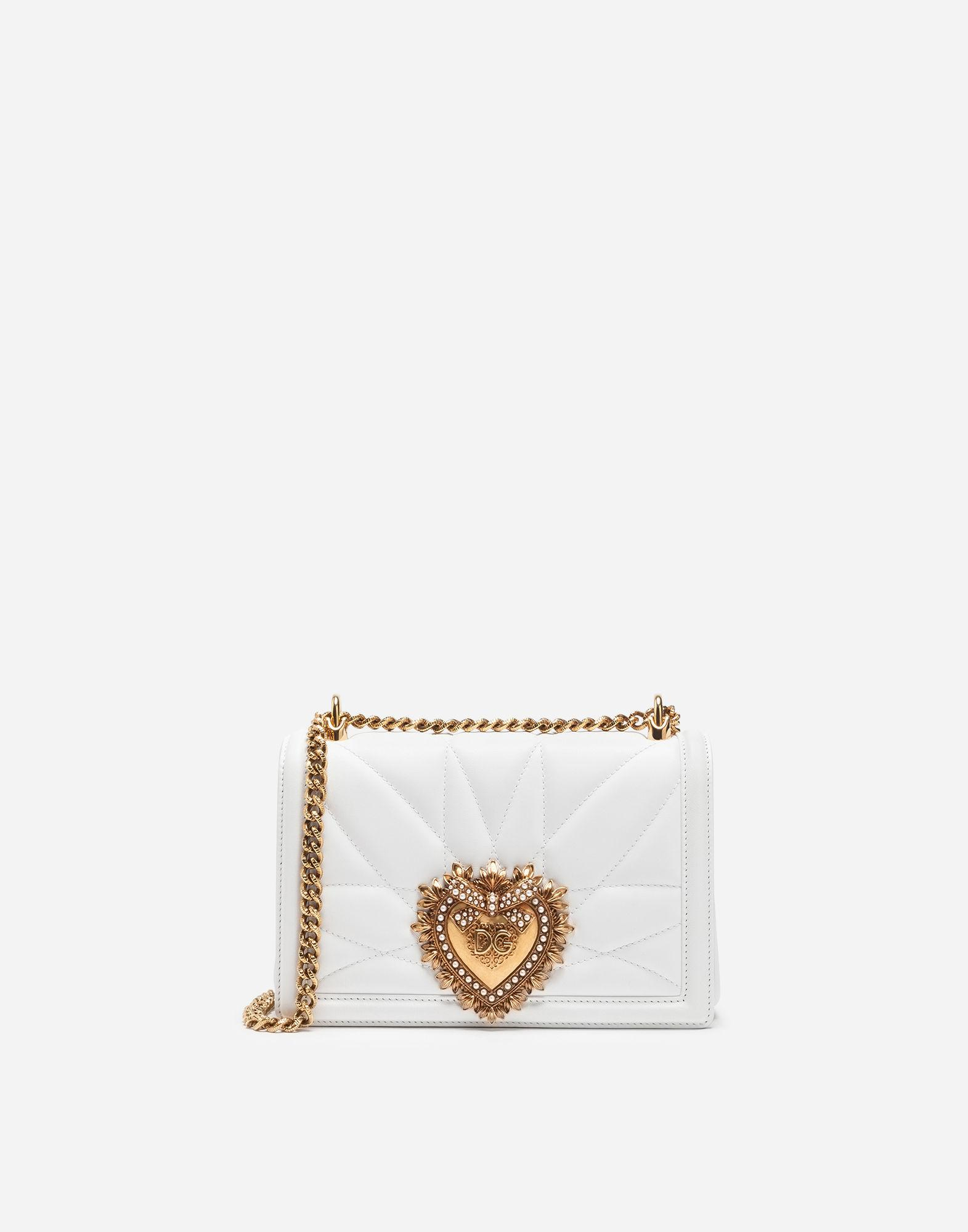 e3722dd7a6 Dolce   Gabbana. Women s White Medium Devotion Bag In Quilted Nappa Leather