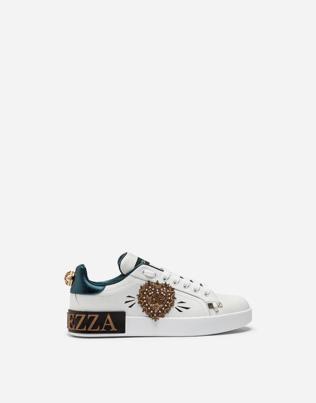 97a8f5403791 Dolce   Gabbana Portofino Sneakers In Printed Nappa Calfskin With ...