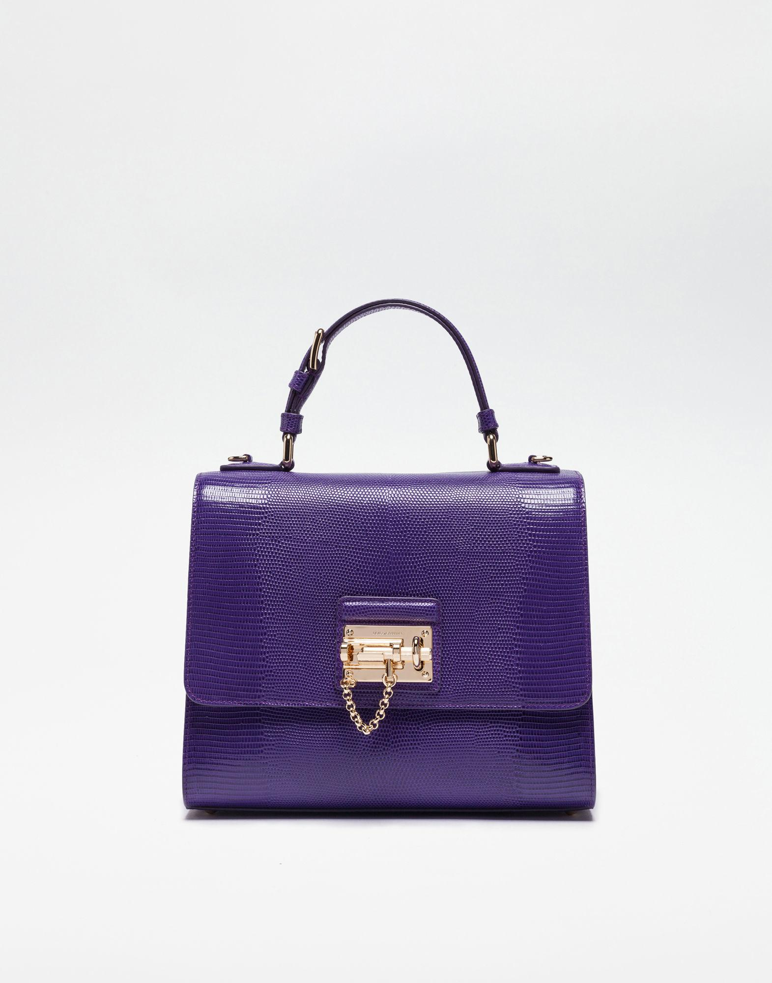 Lyst - Dolce   Gabbana Leather Monica Bag in Purple e5cdd8f7d733f