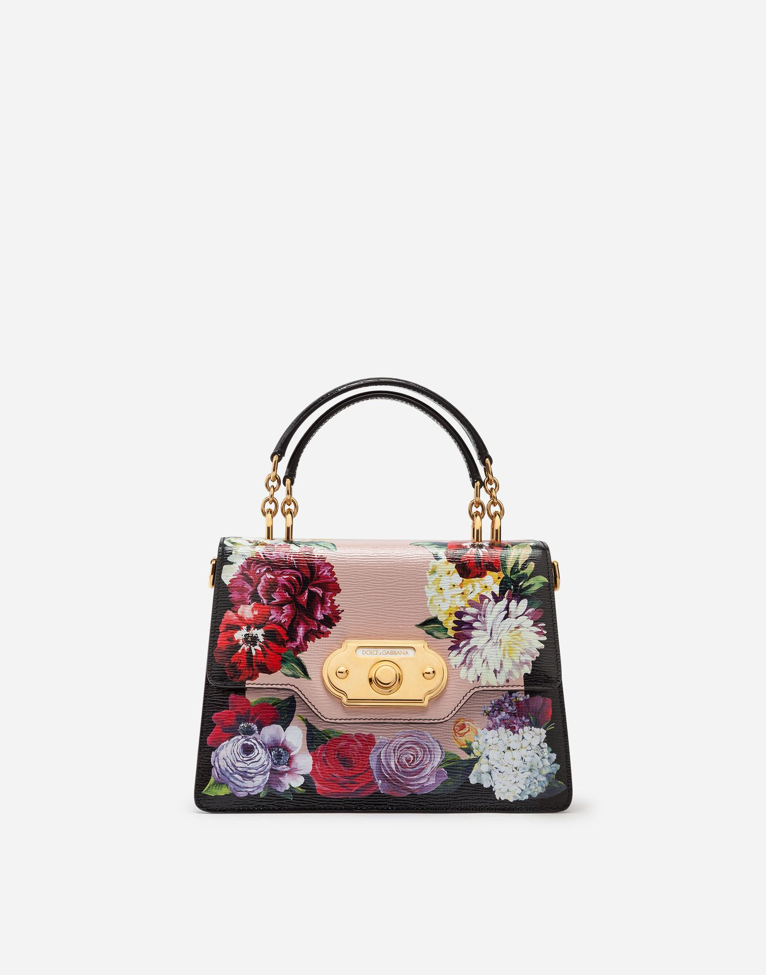 c7e37bf7a7 Lyst - Dolce   Gabbana Welcome Bag In Printed Calfskin