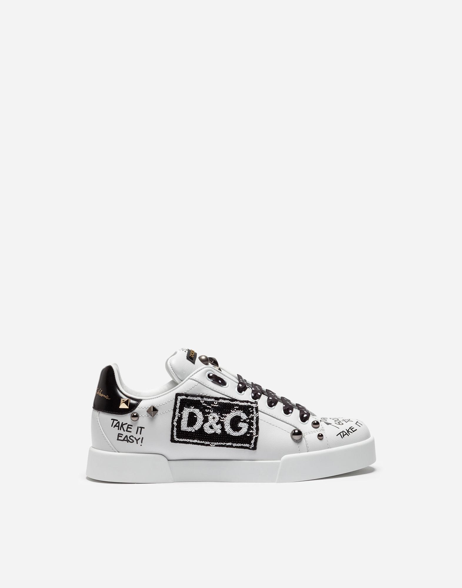 Dolce & Gabbana Portofino embroidered sneakers
