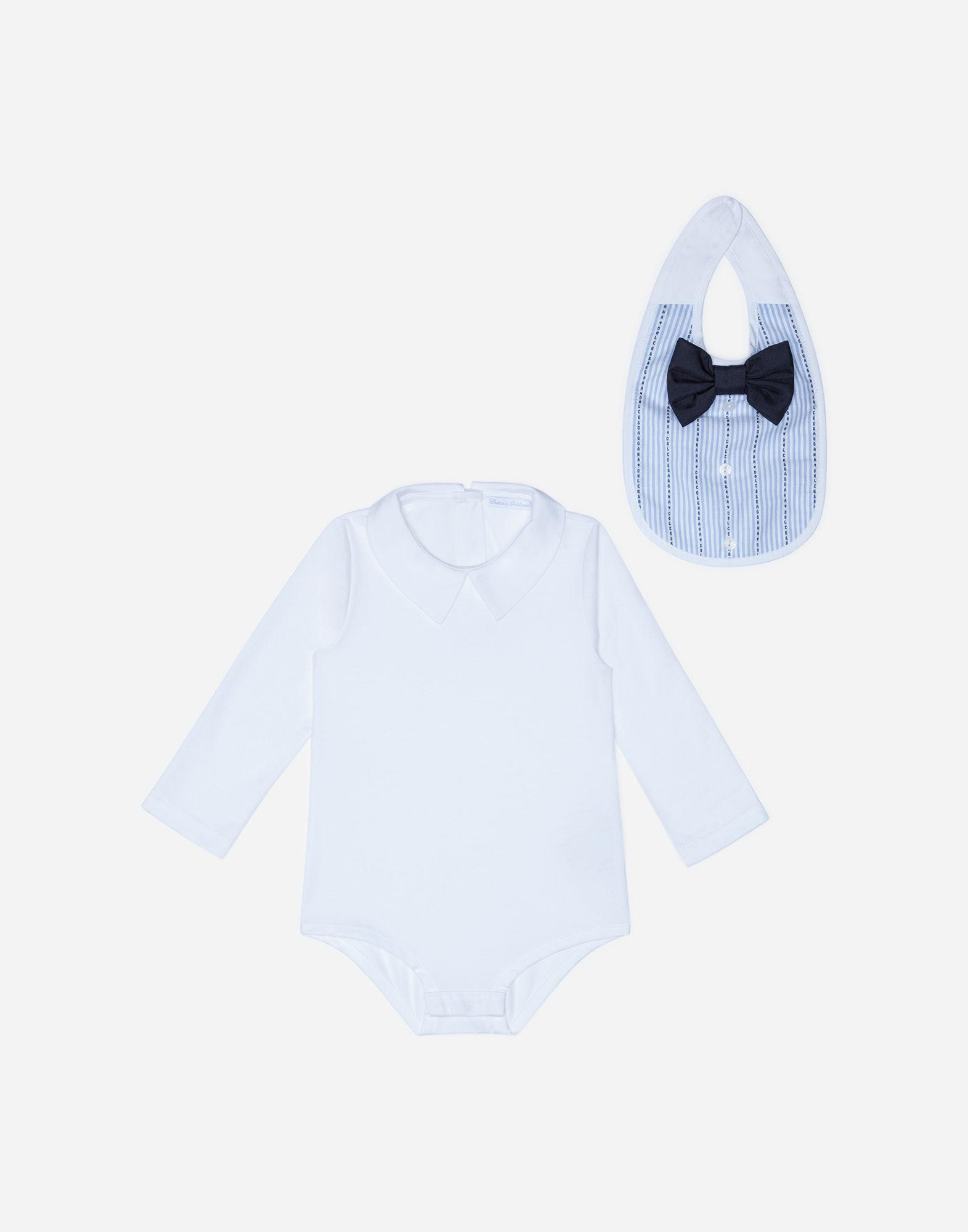 42bb618c5eca Dolce   Gabbana Cotton Shirt-style Bodysuit in Blue - Lyst