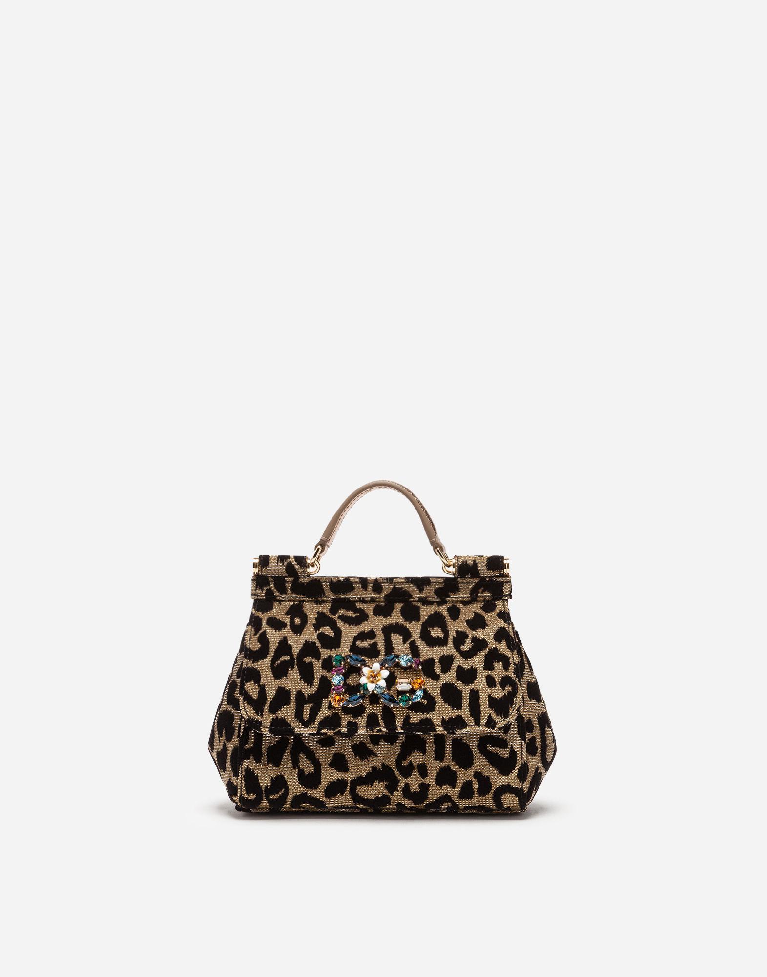 93d4baf09d16 Lyst - Dolce   Gabbana Mini Sicily Bag In Lurex Jacquard Fabric And ...
