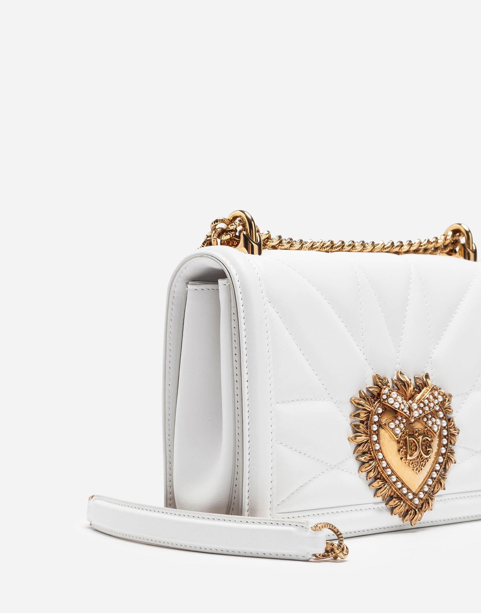 4e036f0361 Lyst - Dolce   Gabbana Medium Devotion Bag In Quilted Nappa Leather in  White - Save 20%