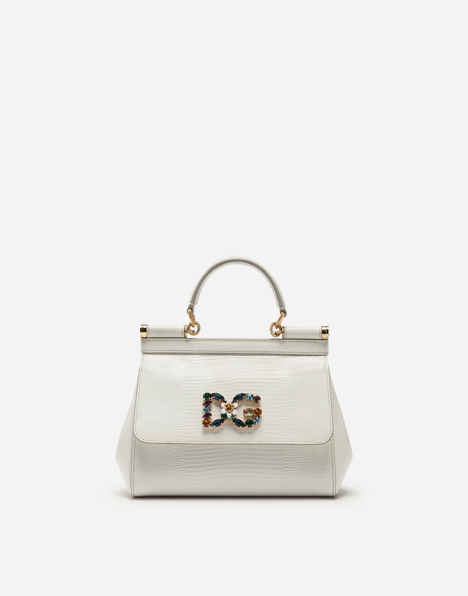 e9b555e197d4f8 Dolce & Gabbana Small Calfskin Sicily Bag With Iguana-print And Dg ...