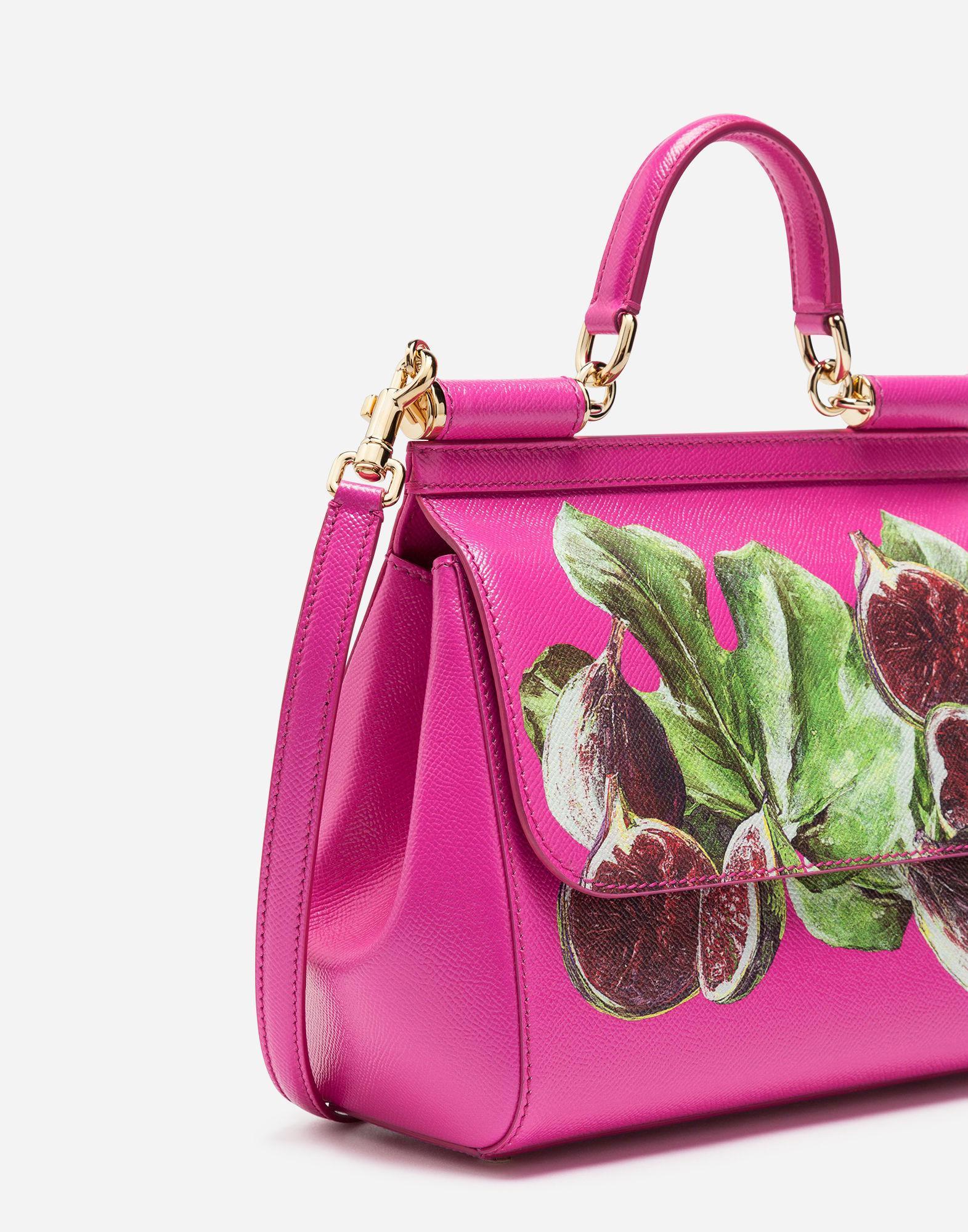 fa717afb2da ... Lyst - Dolce Gabbana Sicily Handbag In Printed Dauphine Cal official  photos a33e0 970fe  Dolce Gabbana. Womens Pink Small Sicily Dauphine  Leather Bag ...