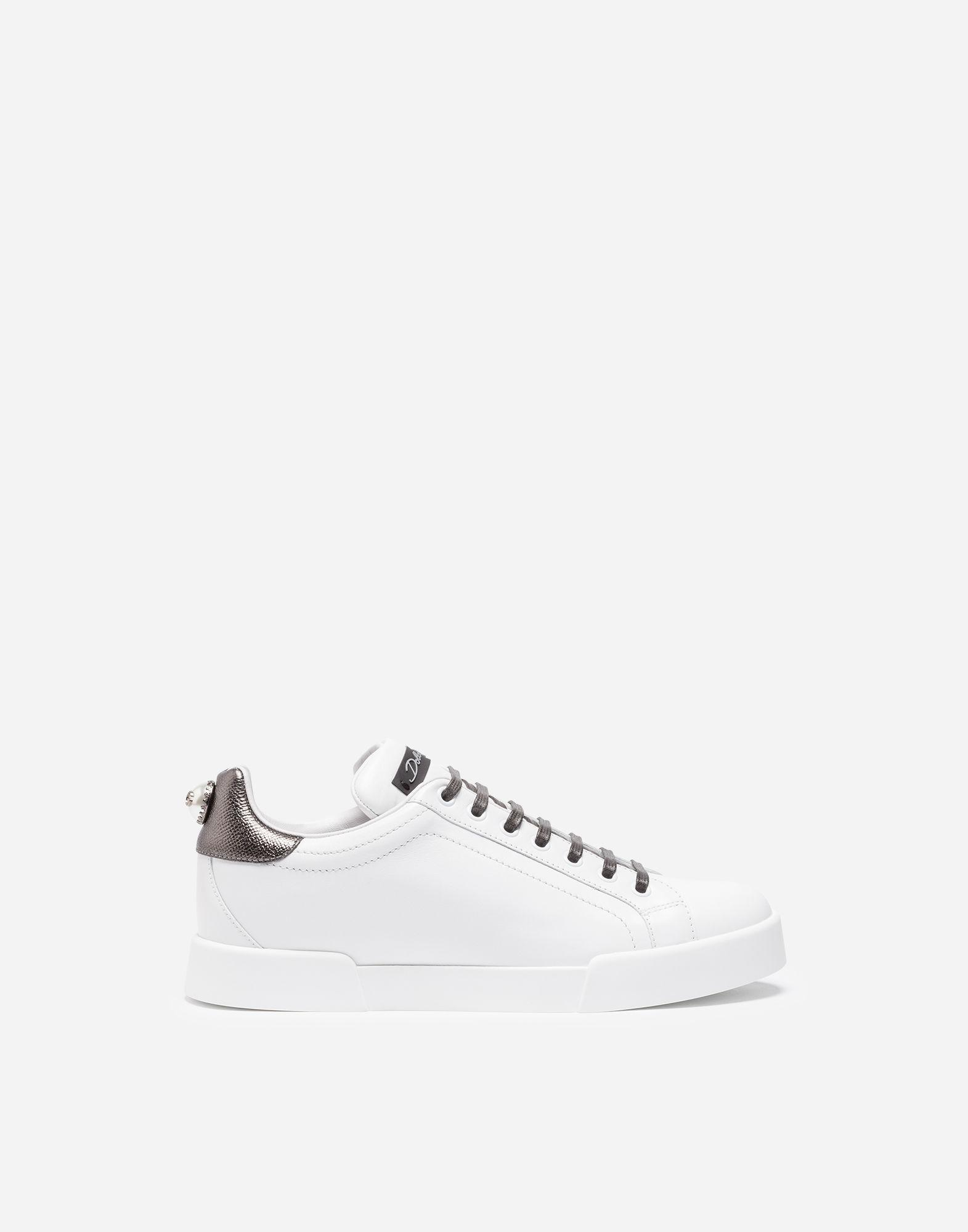 Dolce & Gabbana Sneakers - LEATHER SNEAKERS WITH APPLIQUé Clearance Deals Explore Discount Latest IWkly