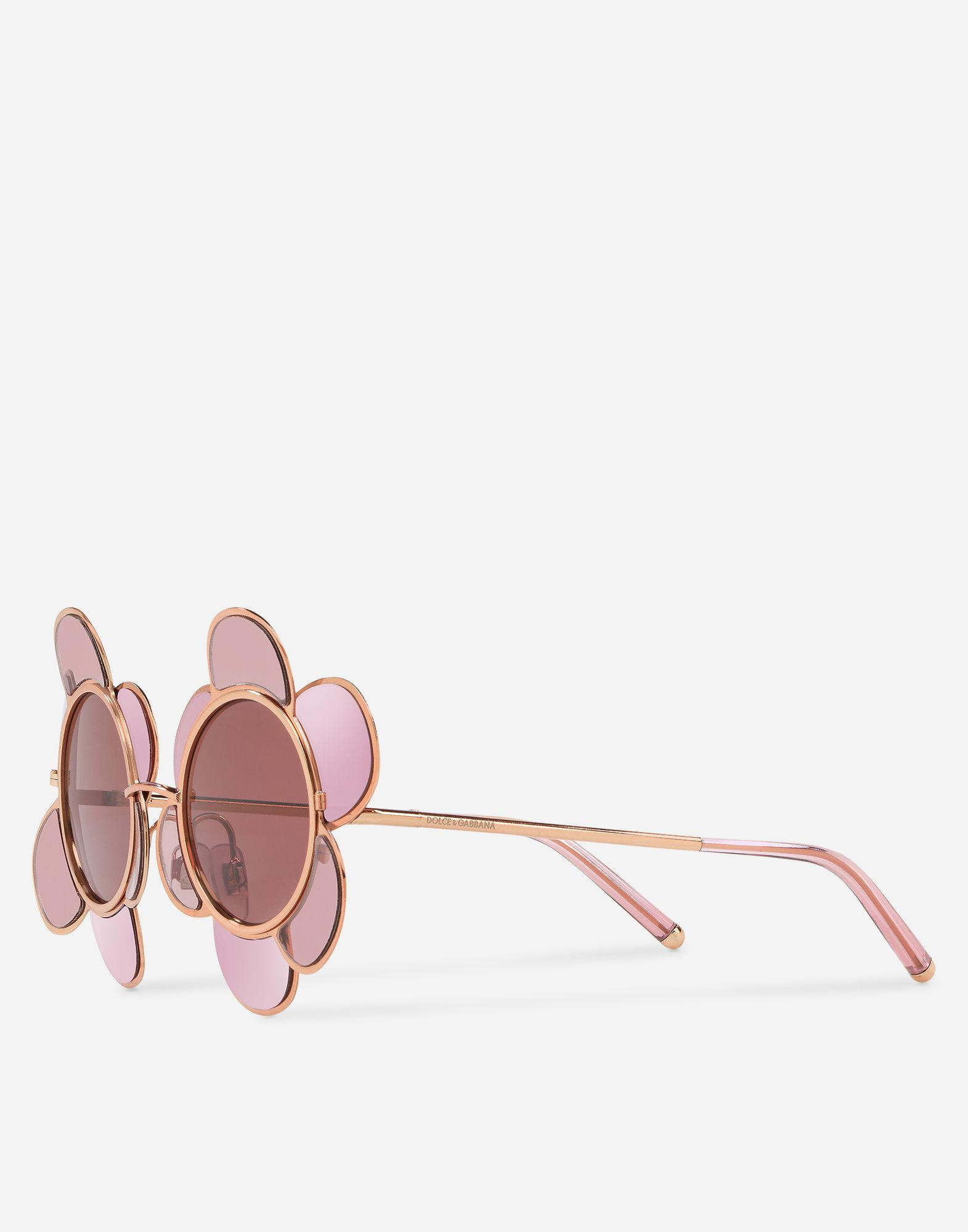 184621b3310 Gabbana Inspired Flower Lyst In amp  Dolce Metal Pink Sunglasses UxqxgEFv