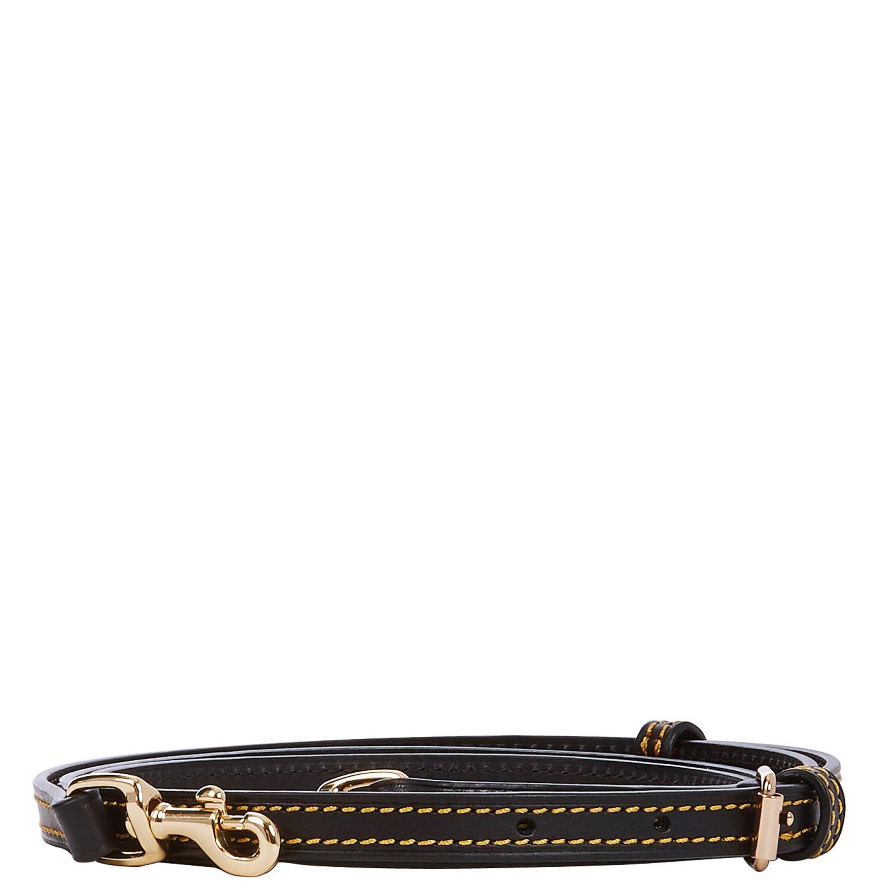 b54414a517eb Replacement Leather Bag Strap Black