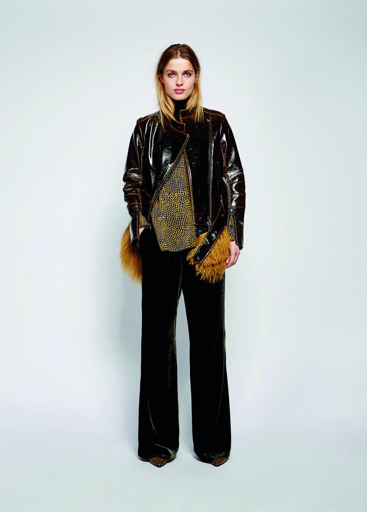 dorothee schumacher glowing emotion jacket with detachable fur lyst. Black Bedroom Furniture Sets. Home Design Ideas
