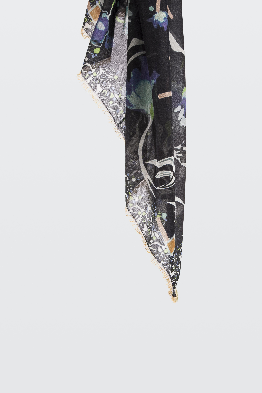 Escapade Romantique Foulard Imprimé Avec Des Franges À La Main 100 X 200 Cm Dorothee De Schumacher ooU61QpgOJ