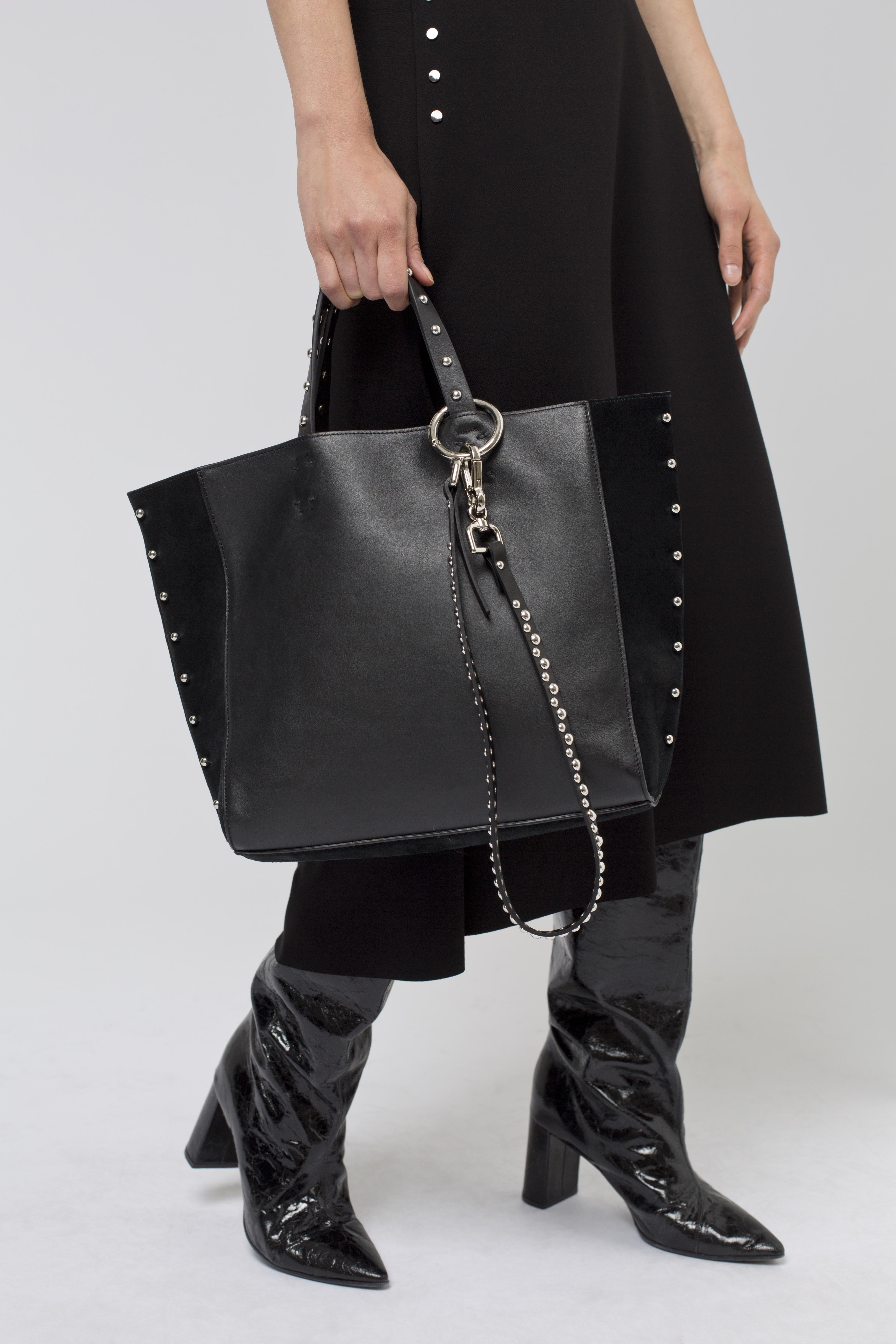 96bfbda104a3 dorothee-schumacher--Studded-Attitude-Piercing-Detail-Neoprene-Bag -With-Key-Chain-Decoration.jpeg
