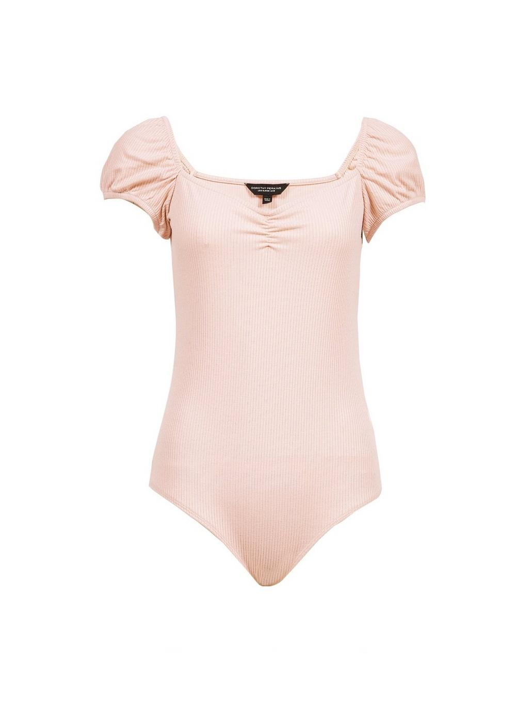 d6734040fbea5d Dorothy Perkins Pink Milkmaid Bodysuit in Pink - Lyst