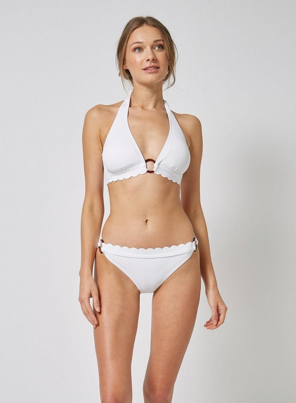 61d26c18c7d11 Dorothy Perkins - Dp Beach White Popcorn Bikini Top - Lyst. View fullscreen
