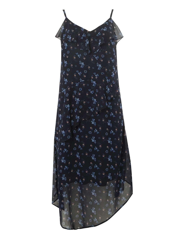 7f1a698f0d Dorothy Perkins. Women s Blue Navy Ditsy Floral Asymmetric Midi Skater Dress