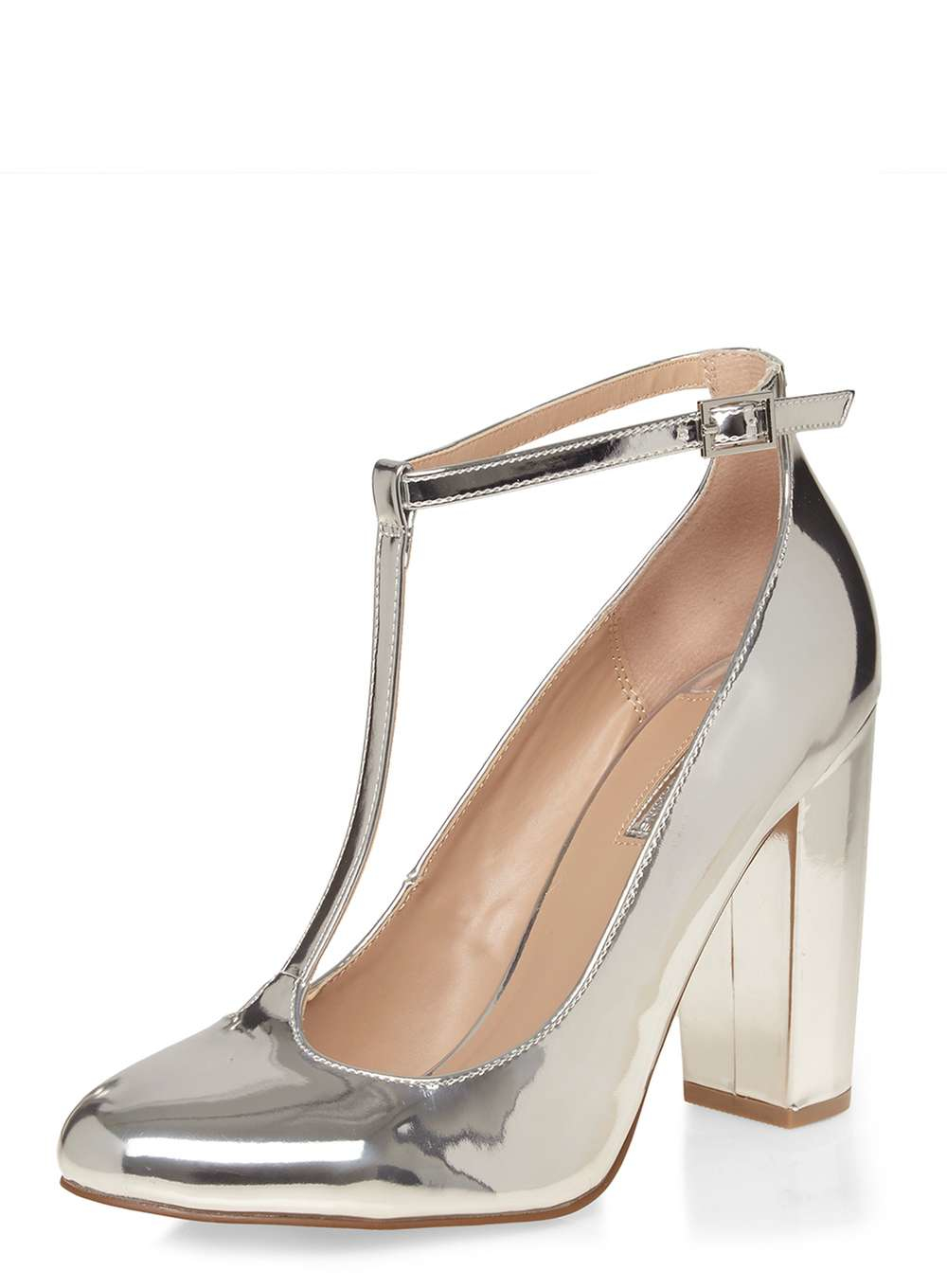 Dorothy Perkins Silver Court Shoes