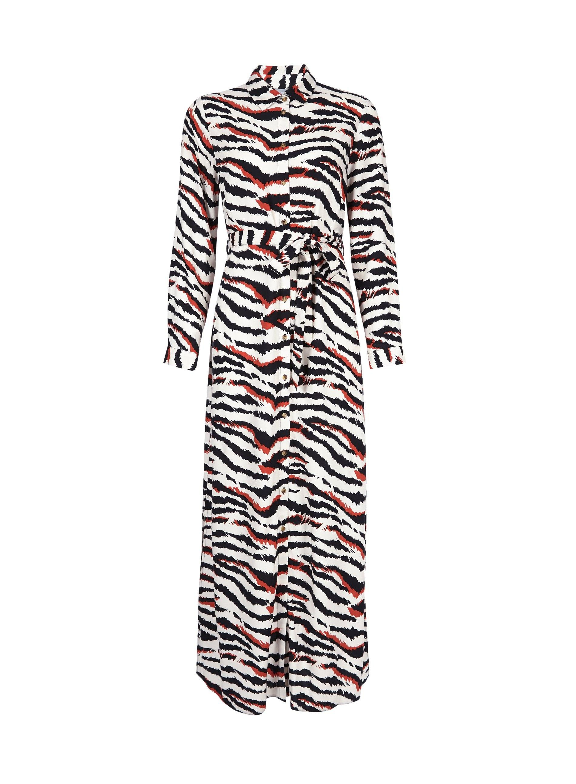 8db605a4e5da Dorothy Perkins Petite Multi Coloured Zebra Print Maxi Shirt Dress ...