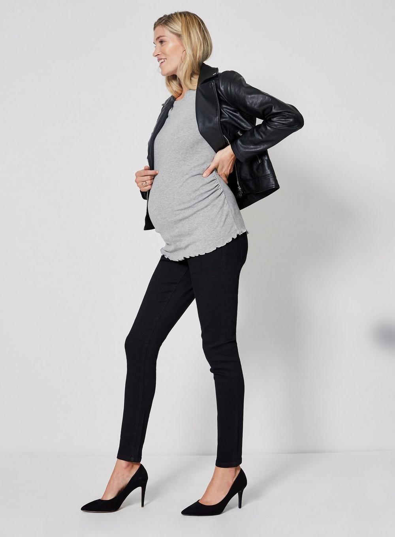 4770e558a32c3 Dorothy Perkins - Maternity Black Overbump 'ashley' Skinny Jeans - Lyst.  View fullscreen