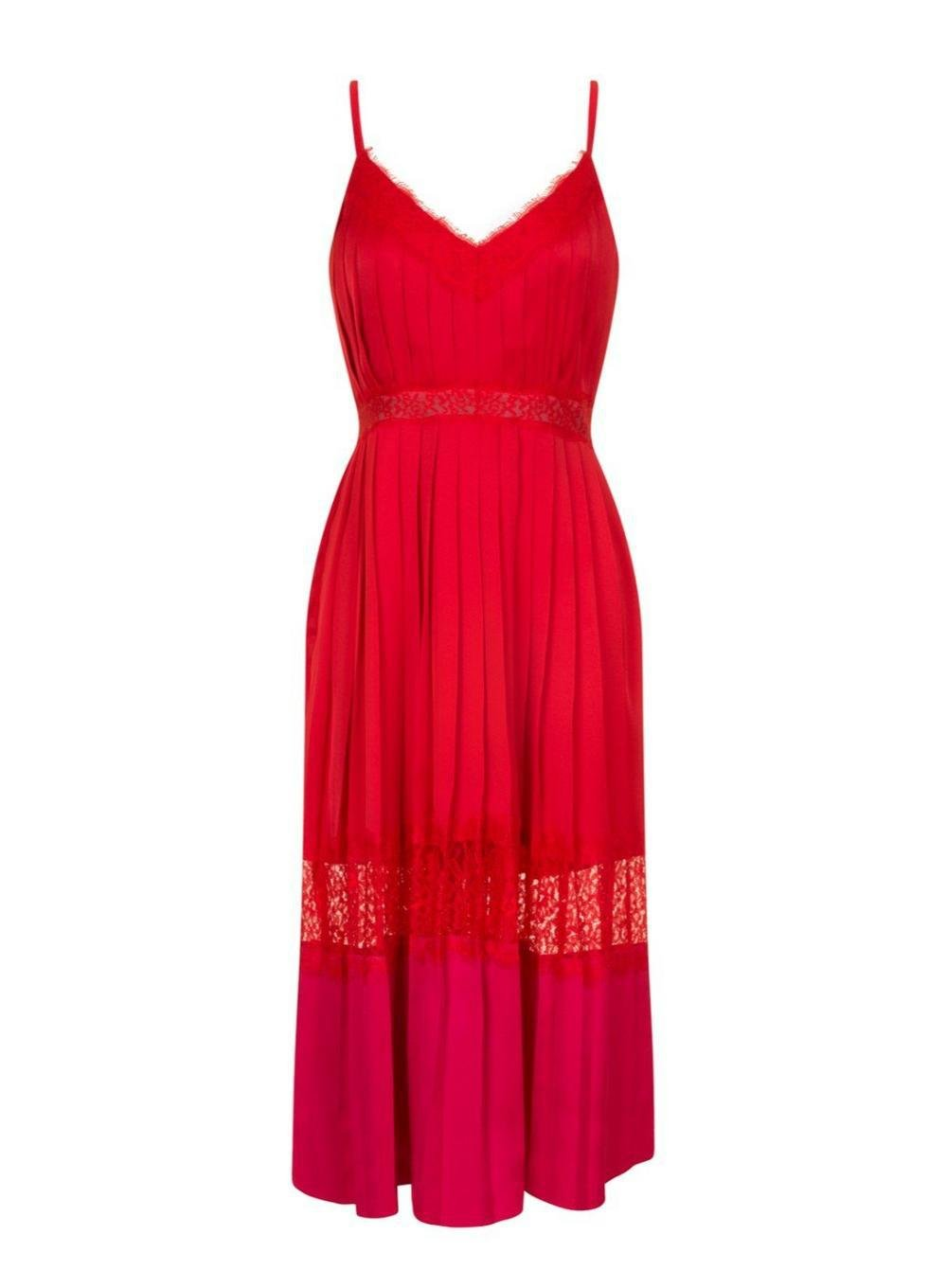 Dorothy Perkins Little Mistress Red Camisole Midi Dress 2PJFed
