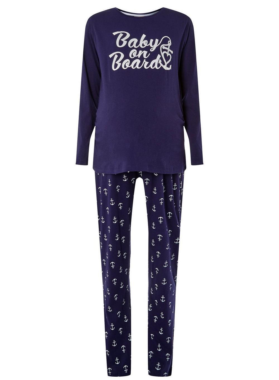 1cdc701633815 Dorothy Perkins. Women's Blue Maternity Purple 'baby On Board' Pyjama Set