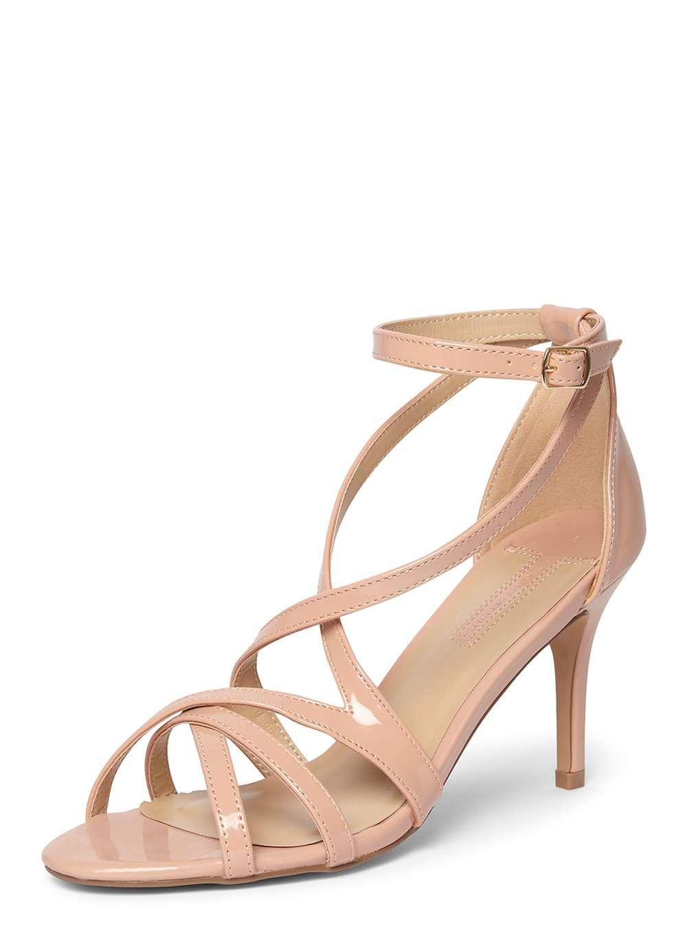 31e423af9f91 Lyst - Dorothy Perkins Blush  scala  Strappy Sandals in Pink