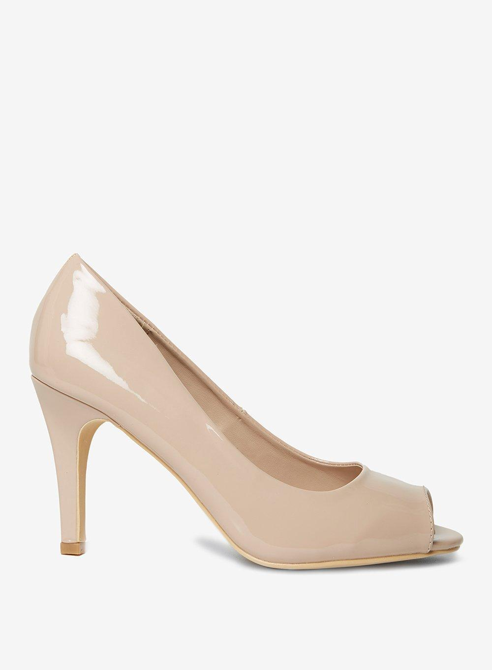 5339c3db37 Lyst - Dorothy Perkins Wide Fit Nude 'clover' Court Shoes in White