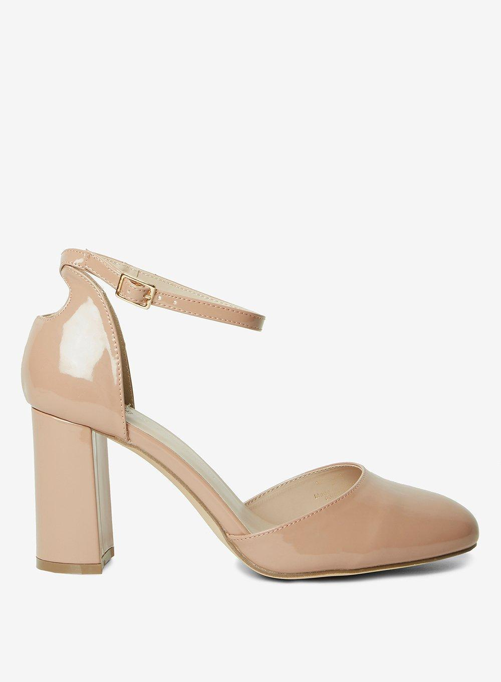 Dorothy Perkins Wide Wide Wide Fit Nude 'deena' Court Schuhes in Weiß Lyst c13828