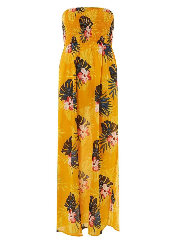 830aa533c0 Lyst - Dorothy Perkins Dp Beach Yellow Floral Print Maxi Dress in Orange