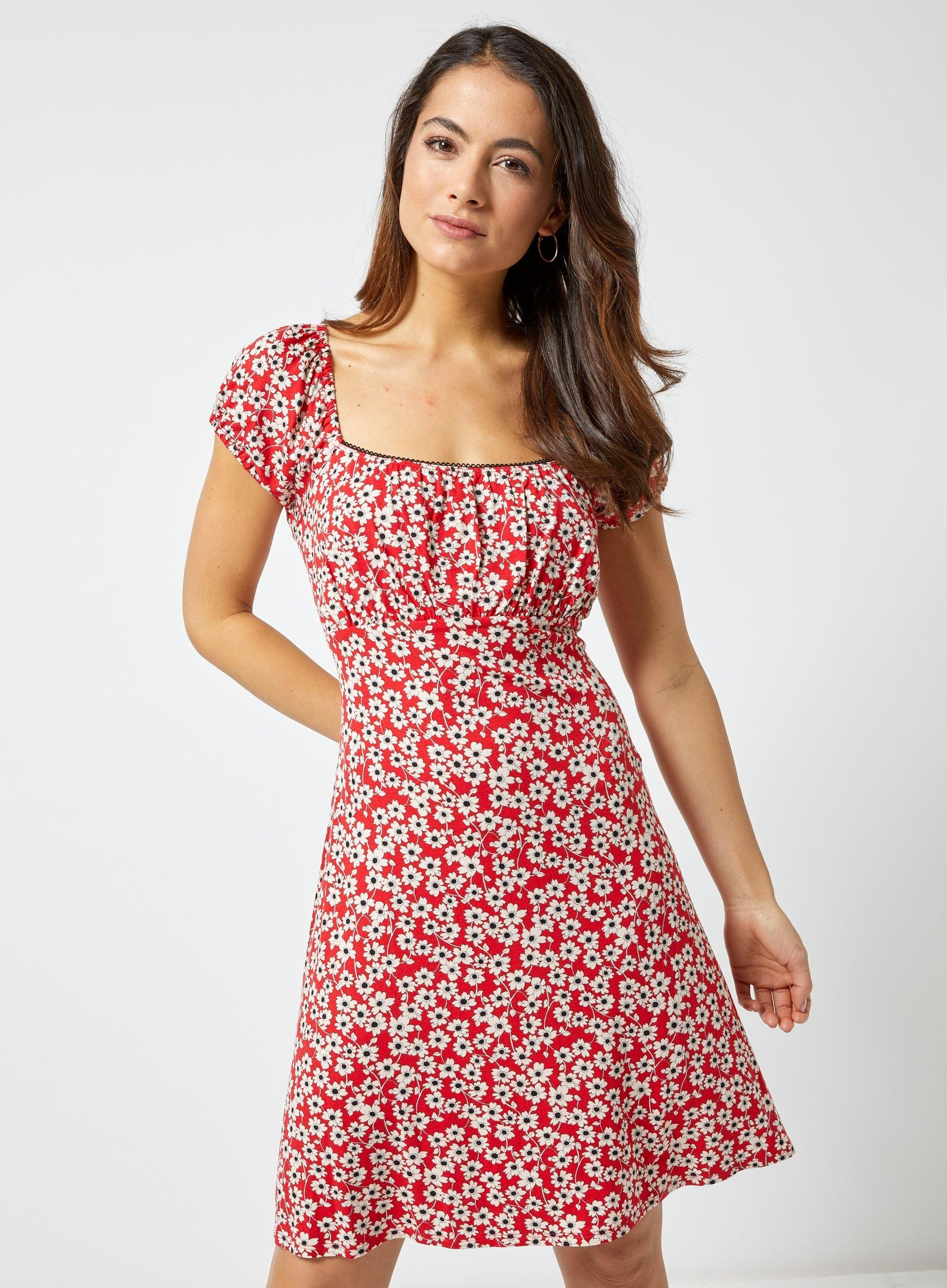 cfbbd0a18f6 Dorothy Perkins - Petite Red Ditsy Print Dress - Lyst. View fullscreen