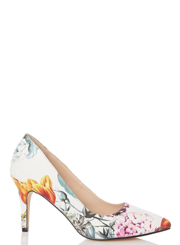 recommander Centre De Liquidation Dorothy Perkins Multi Floral Print 'Glamour' Court Shoes kLawgv2Q