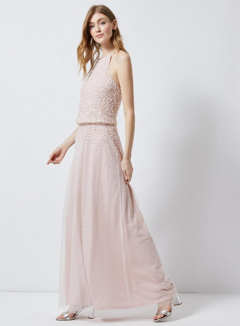 d3362e712b2eb Dorothy Perkins Showcase Tall Blush 'ava' Maxi Dress in Pink - Lyst