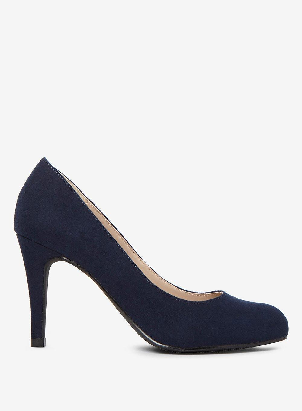 e570b9ef29 Lyst - Dorothy Perkins Navy Microfibre  dallas  Court Shoes in Blue